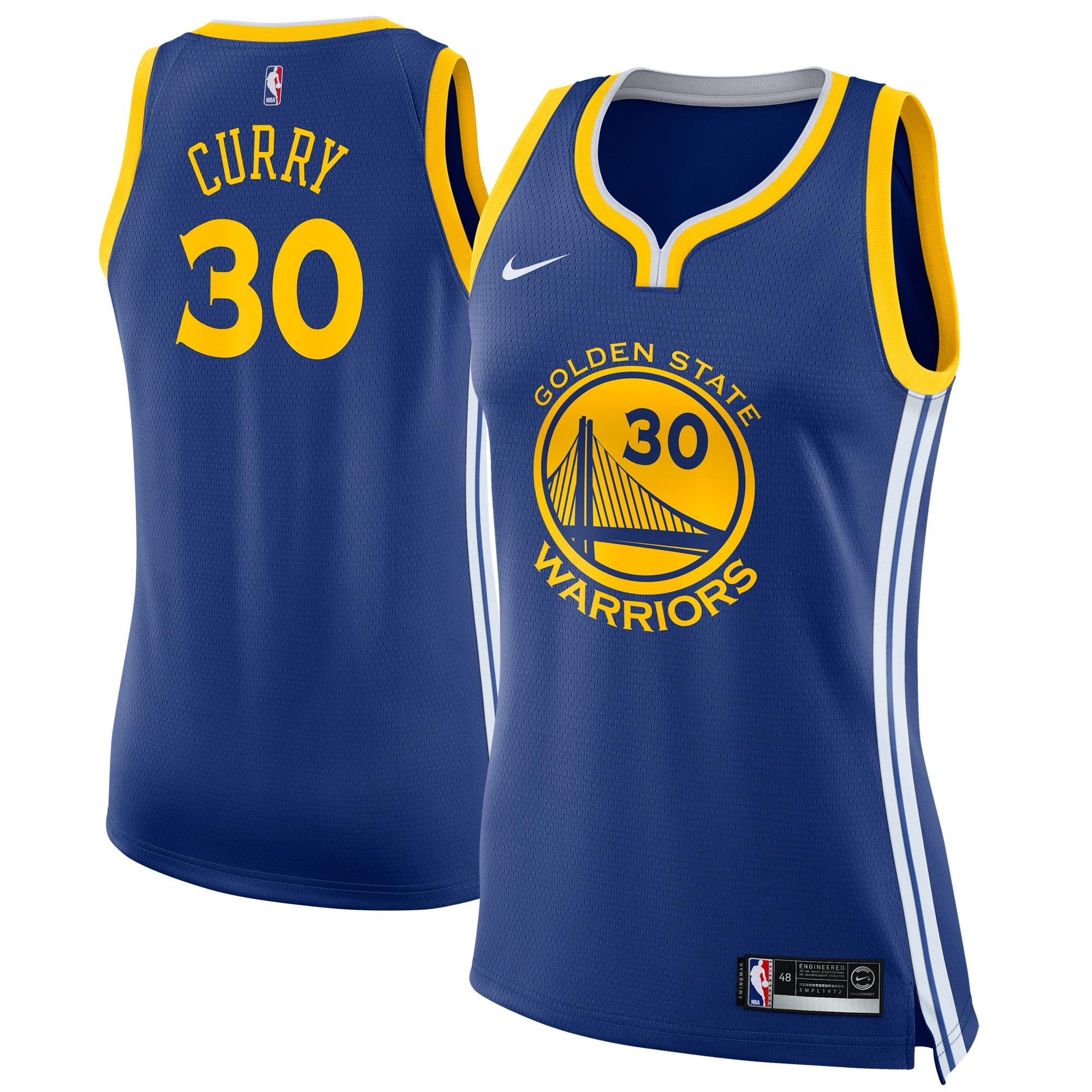 Stephen Curry Golden State Warriors Nike Women's Swingman Jersey Blue - Icon Edition