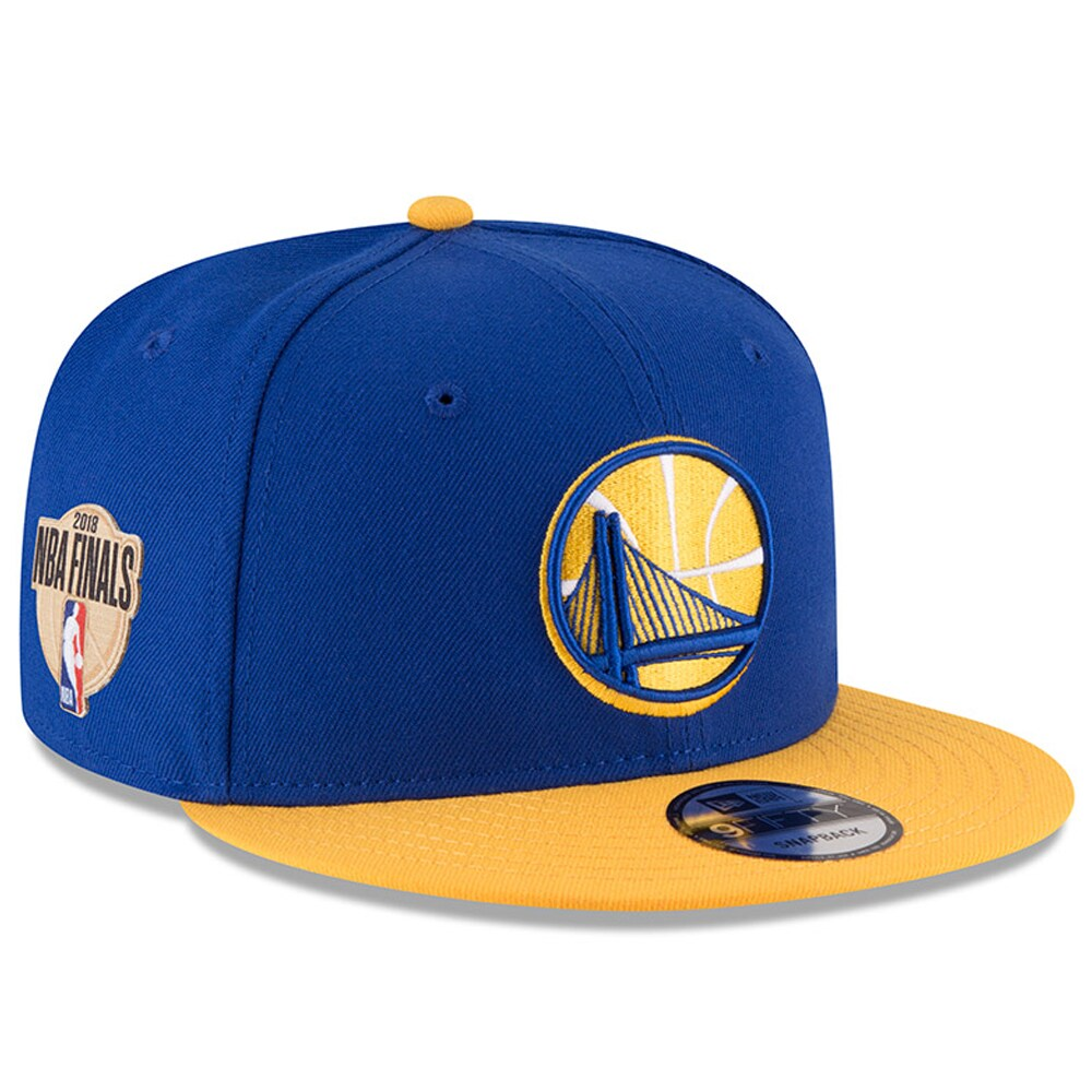 Golden State Warriors New Era 2018 Western Conference Champions Side Patch Two-Tone 9FIFTY Snapback Adjustable Hat - Royal/Gold