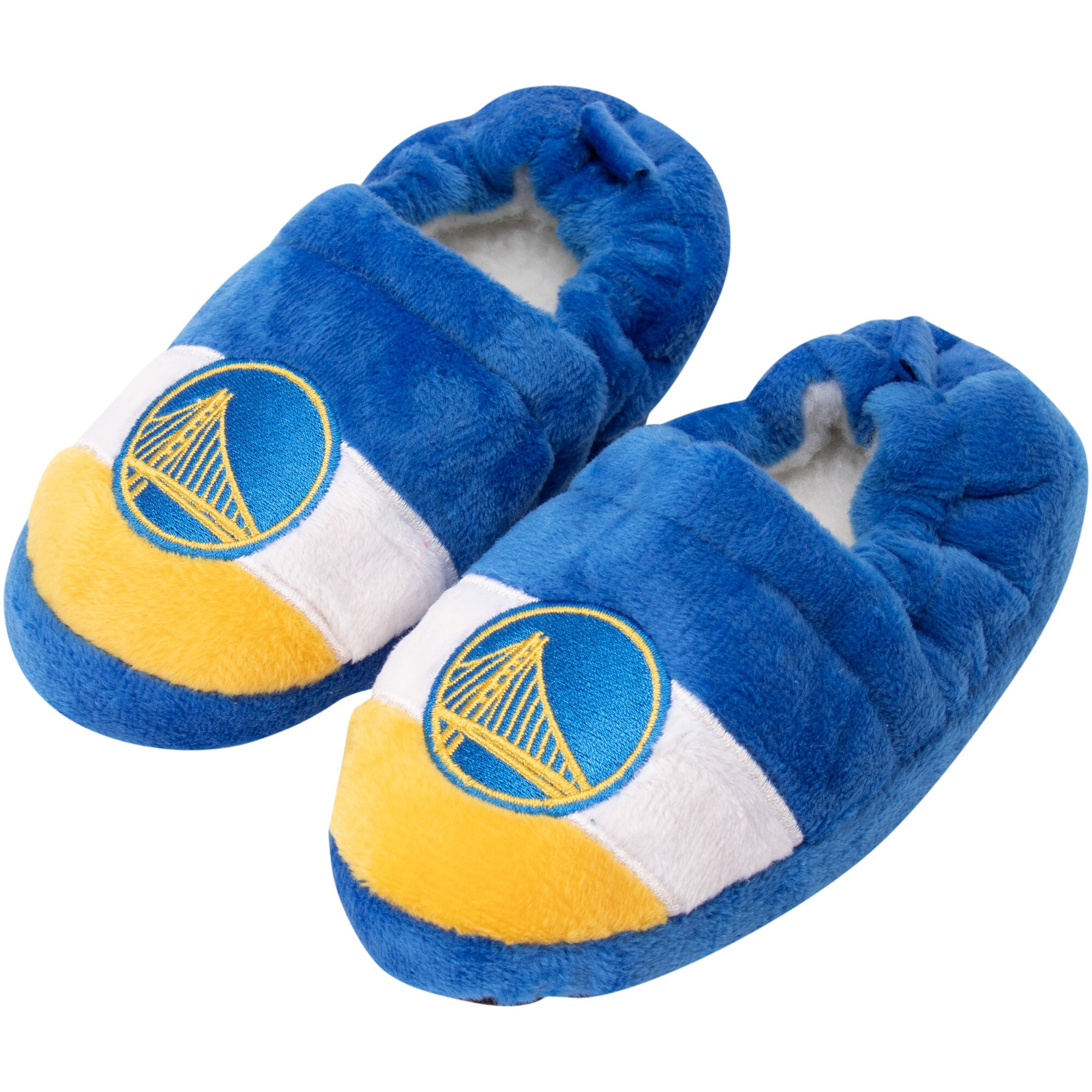 Golden State Warriors Toddler Color Block Close Back Slippers