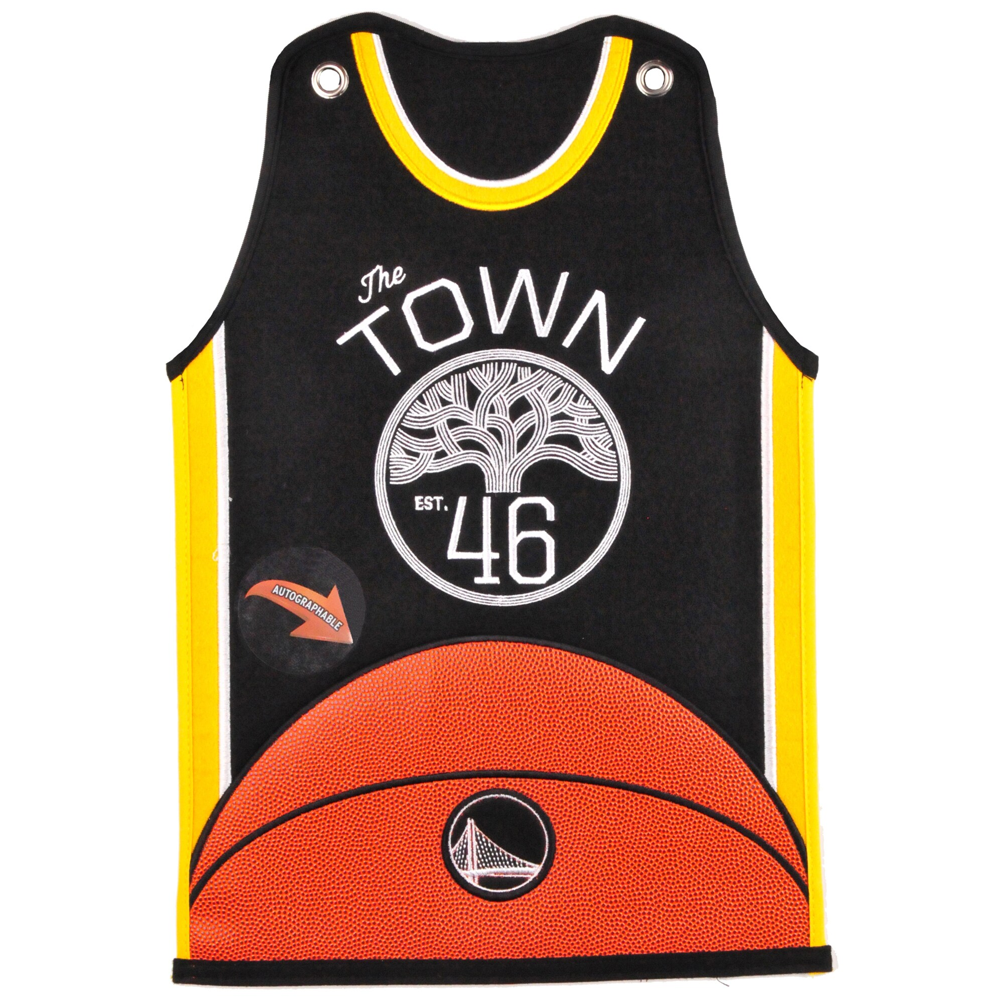 Golden State Warriors 20'' x 18'' Jersey Traditions Banner