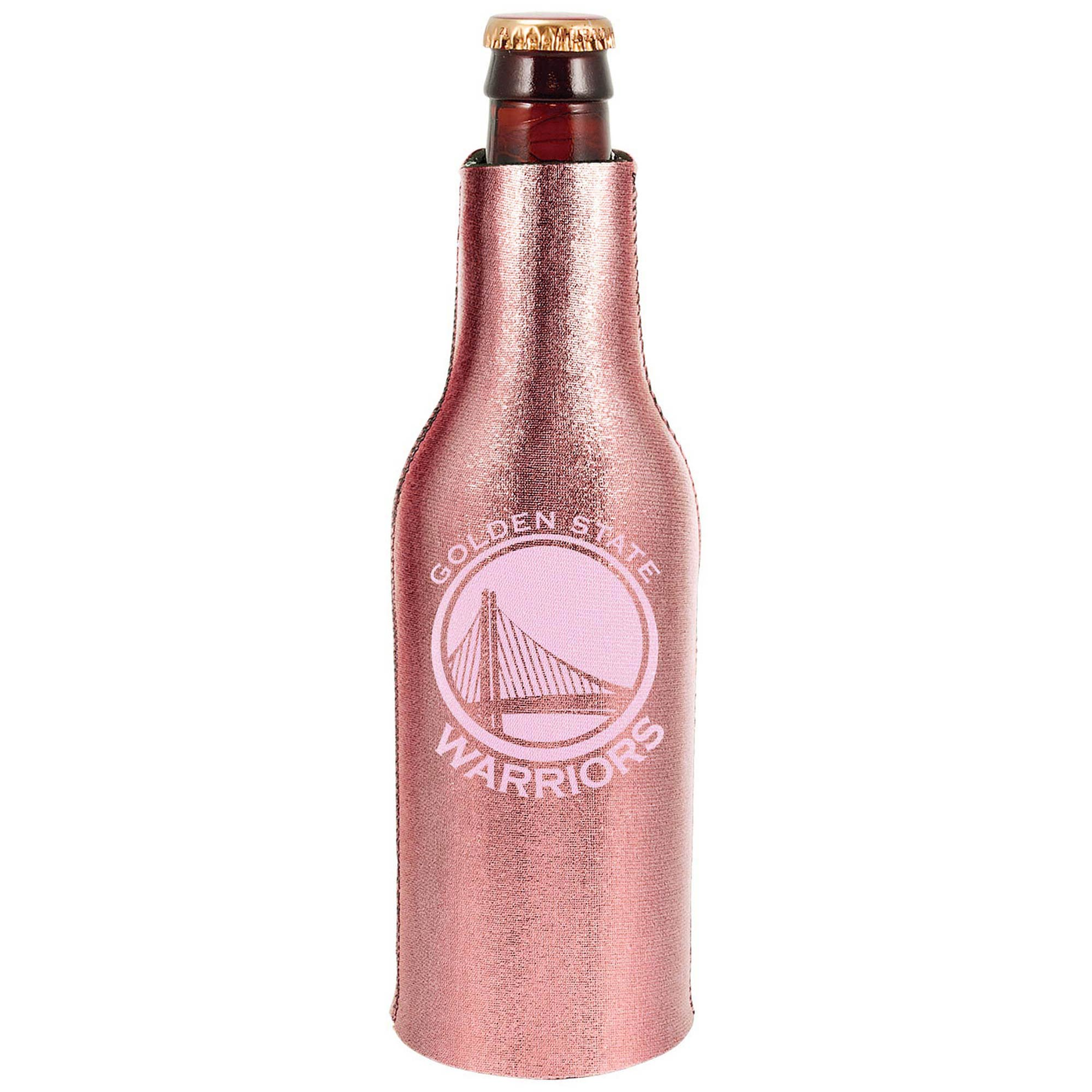 Golden State Warriors 12oz. Rose Gold Bottle Cooler