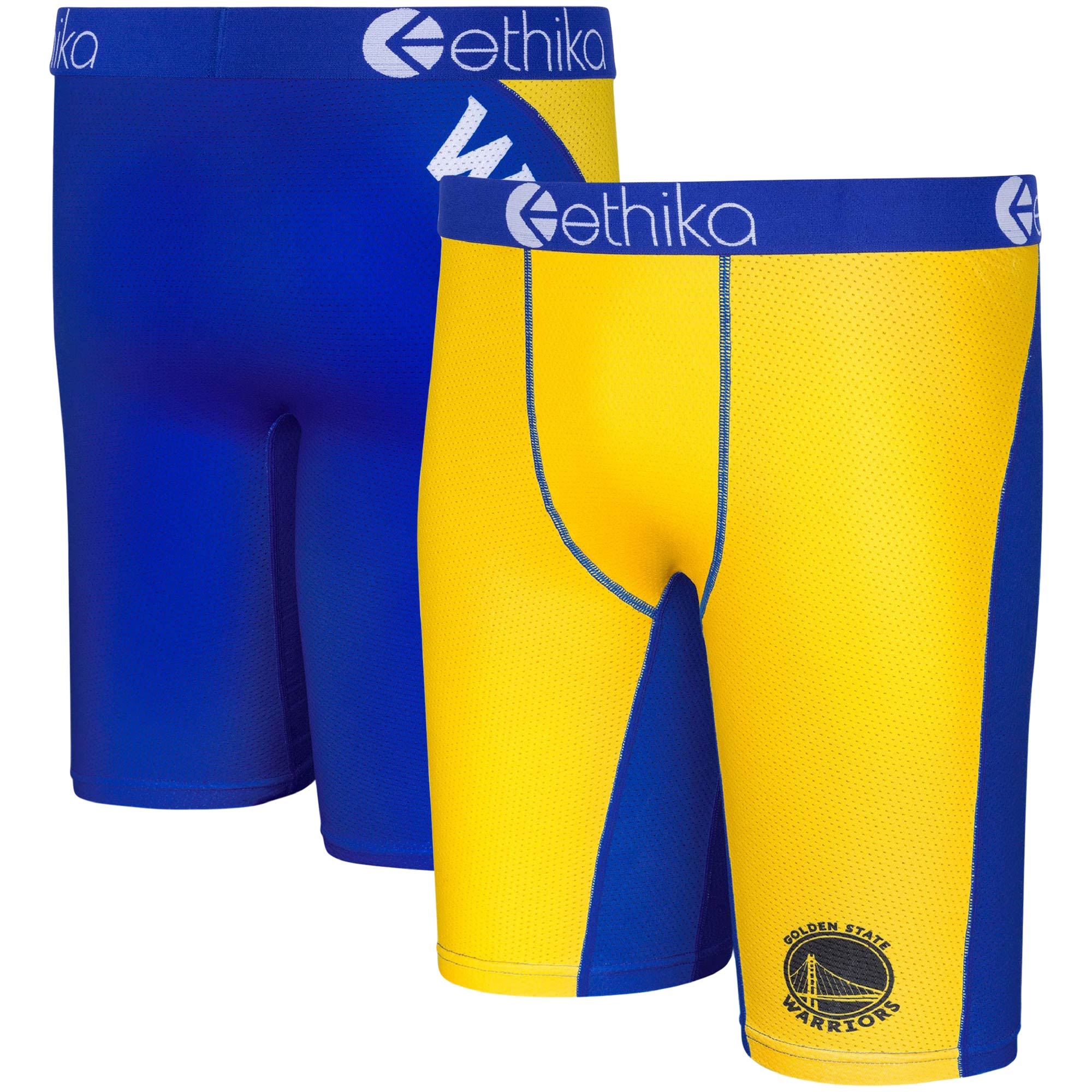 Golden State Warriors Ethika for Fanatics Micromesh Boxer Briefs - Gold
