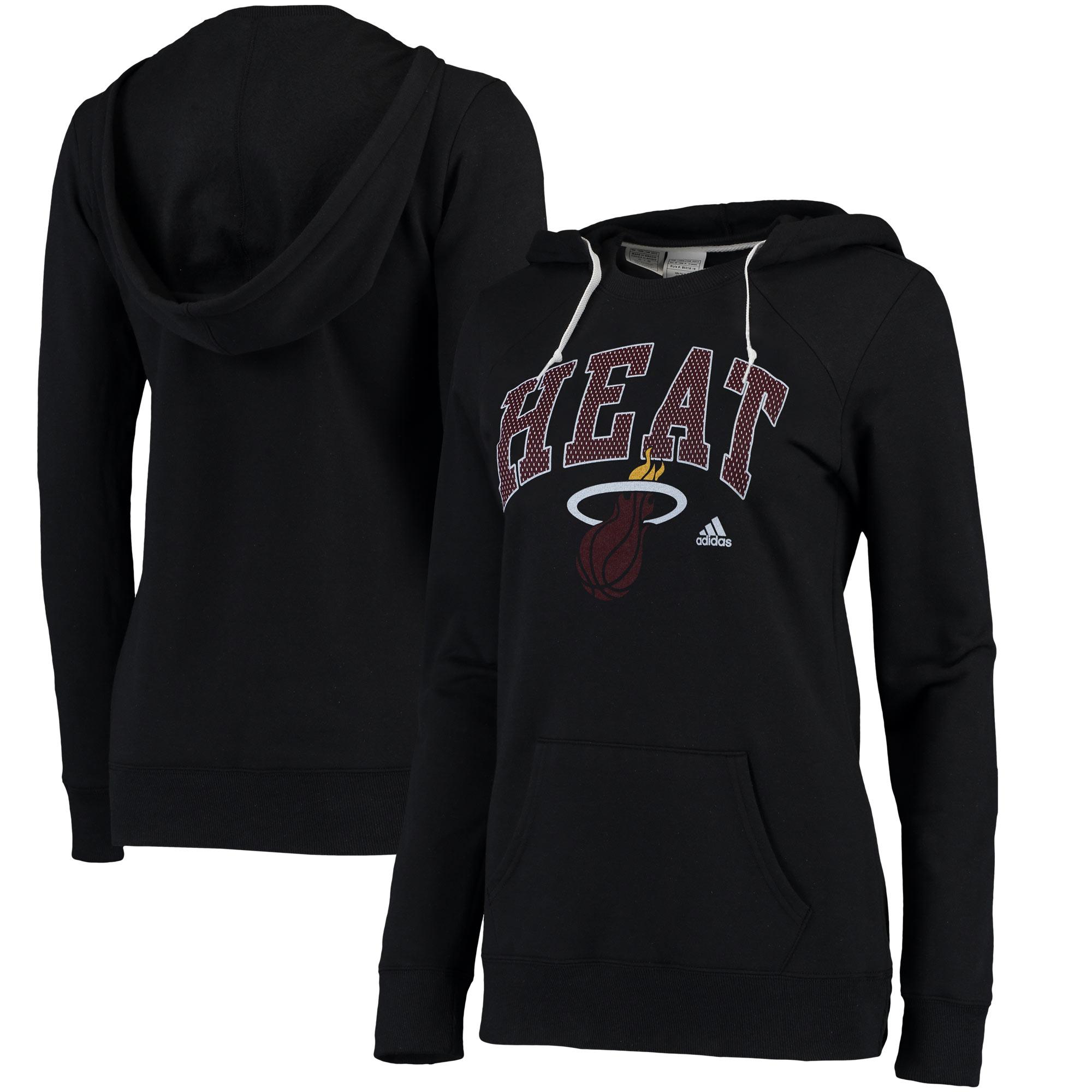 Miami Heat adidas Women's Outline Big Arch Hoodie - Black