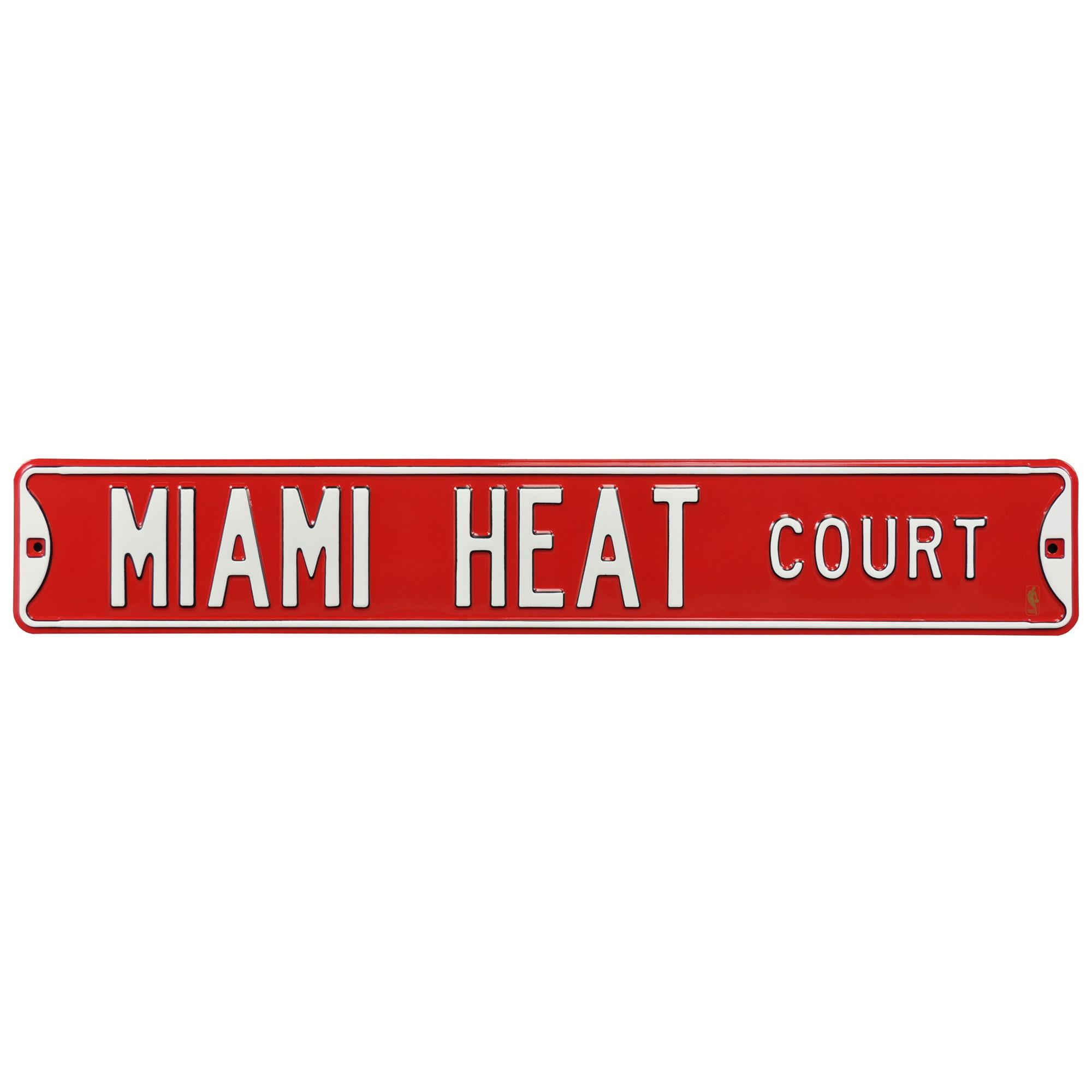 """Miami Heat 6"""" x 36"""" Steel Street Sign"""