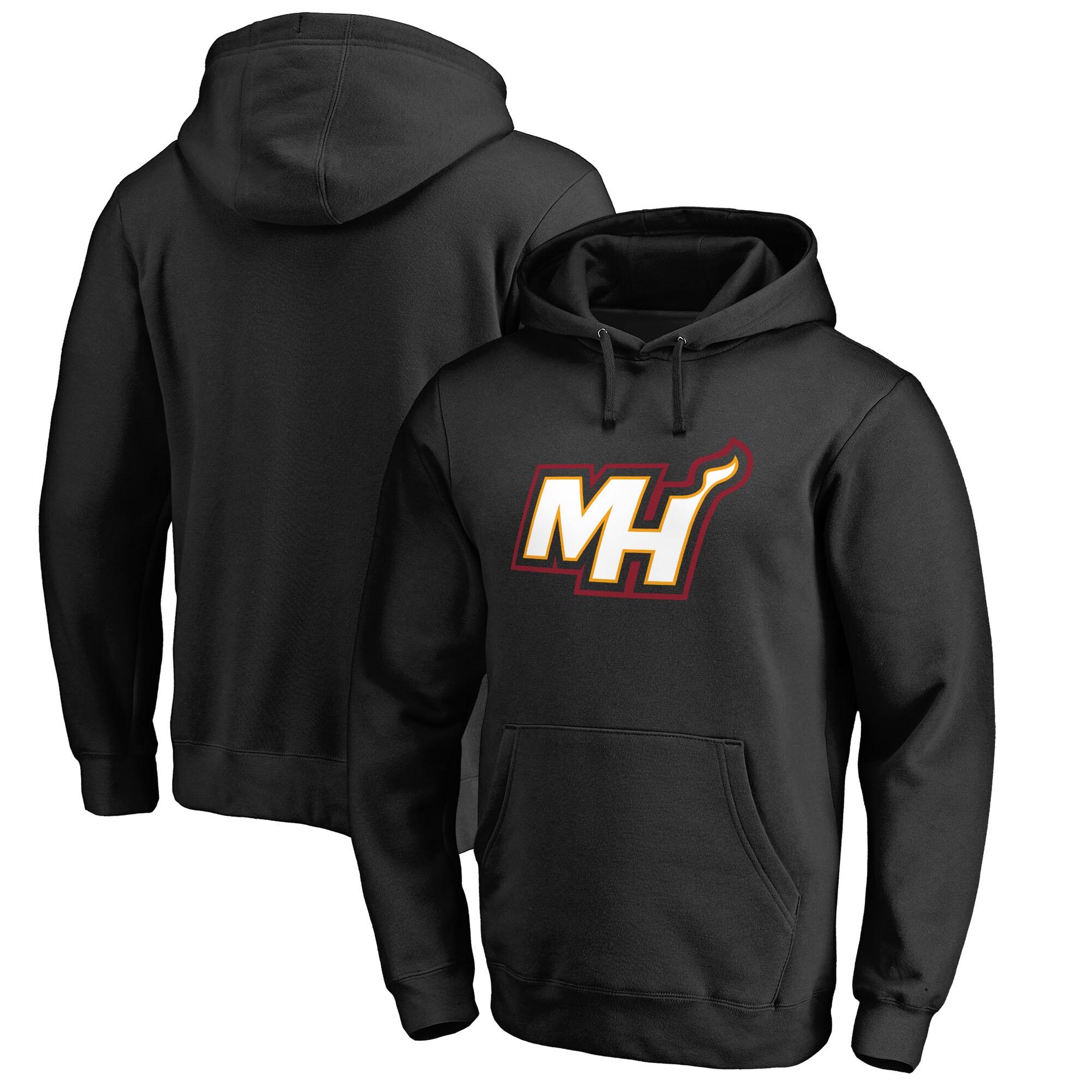 Miami Heat Fanatics Branded Alternate Logo Pullover Hoodie - Black