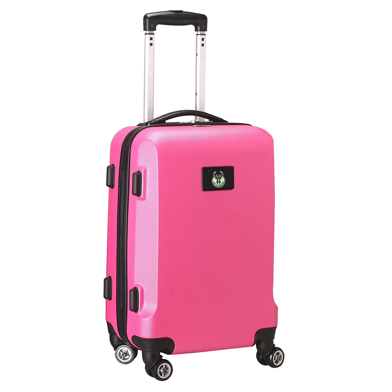 """Milwaukee Bucks 20"""" 8-Wheel Hardcase Spinner Carry-On - Pink"""