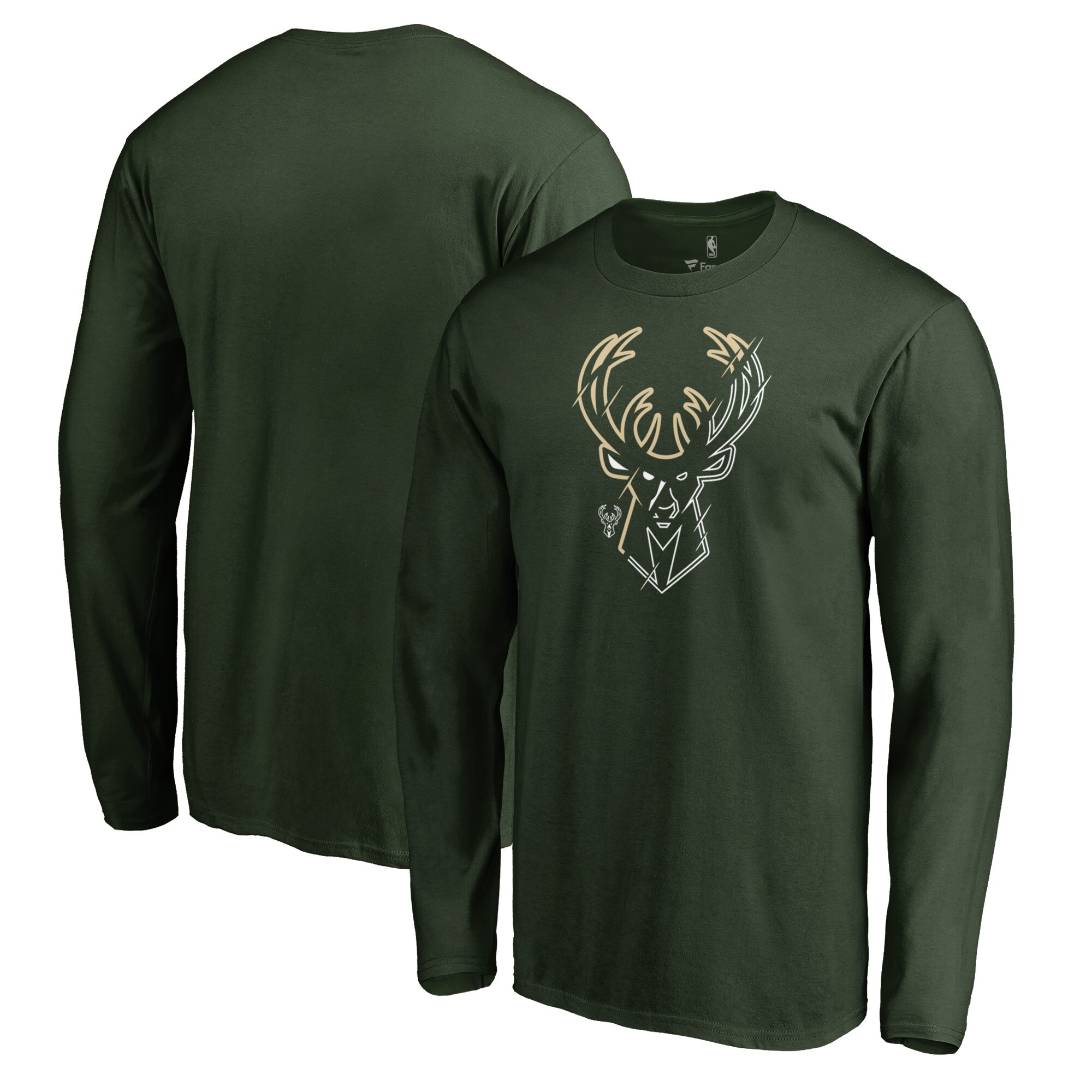 Milwaukee Bucks Fanatics Branded X-Ray Long Sleeve T-Shirt - Green