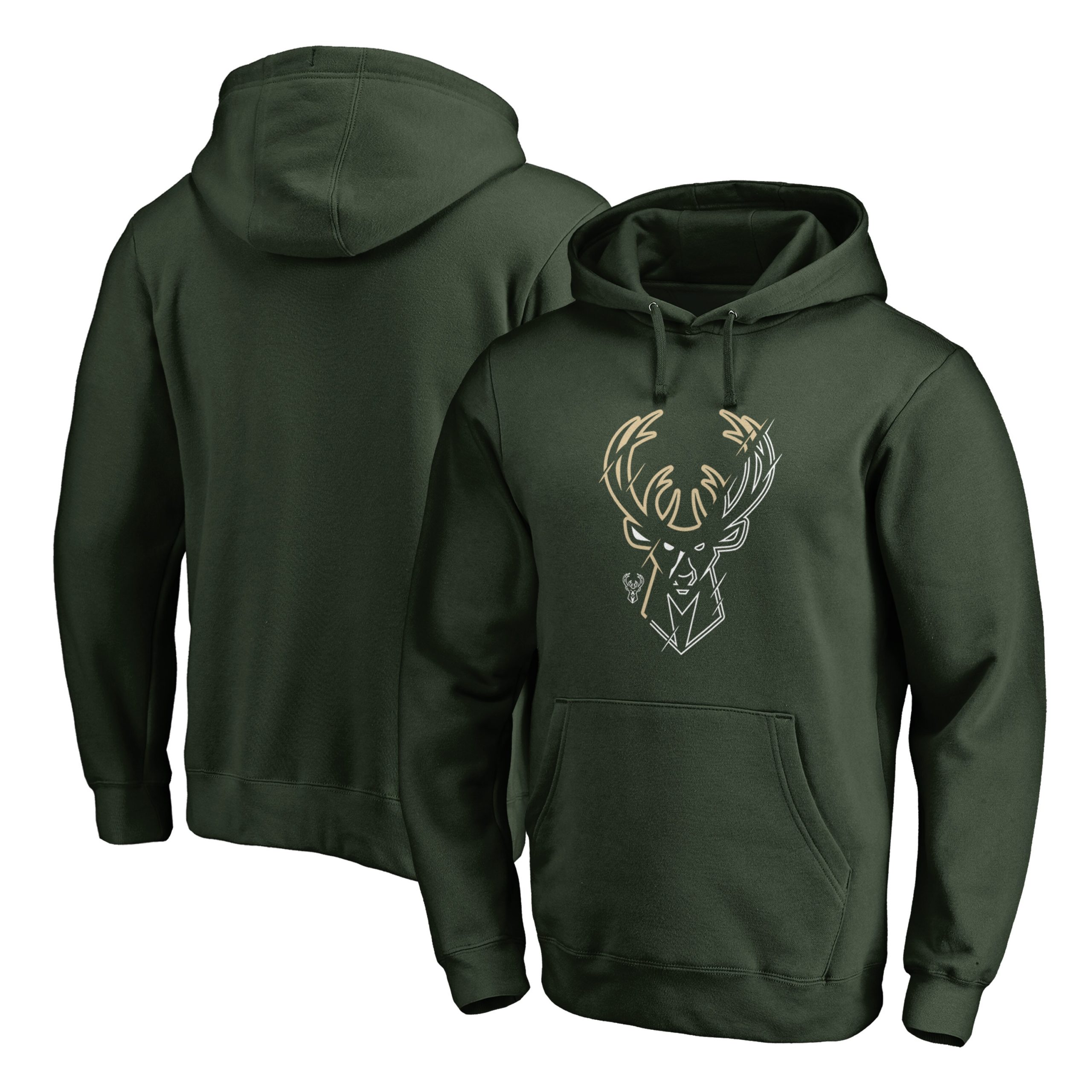 Milwaukee Bucks Fanatics Branded X-Ray Pullover Hoodie - Green