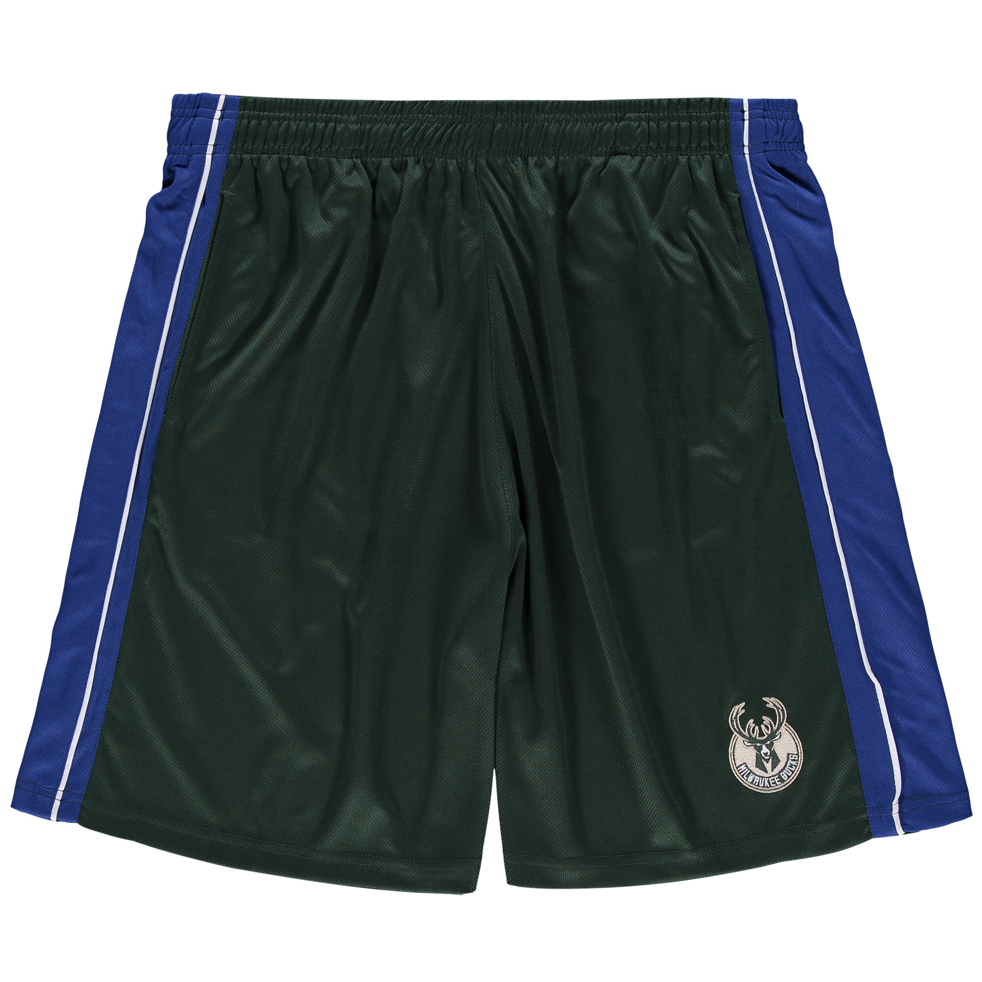 Milwaukee Bucks Majestic Big & Tall Birdseye Shorts - Hunter Green/Royal