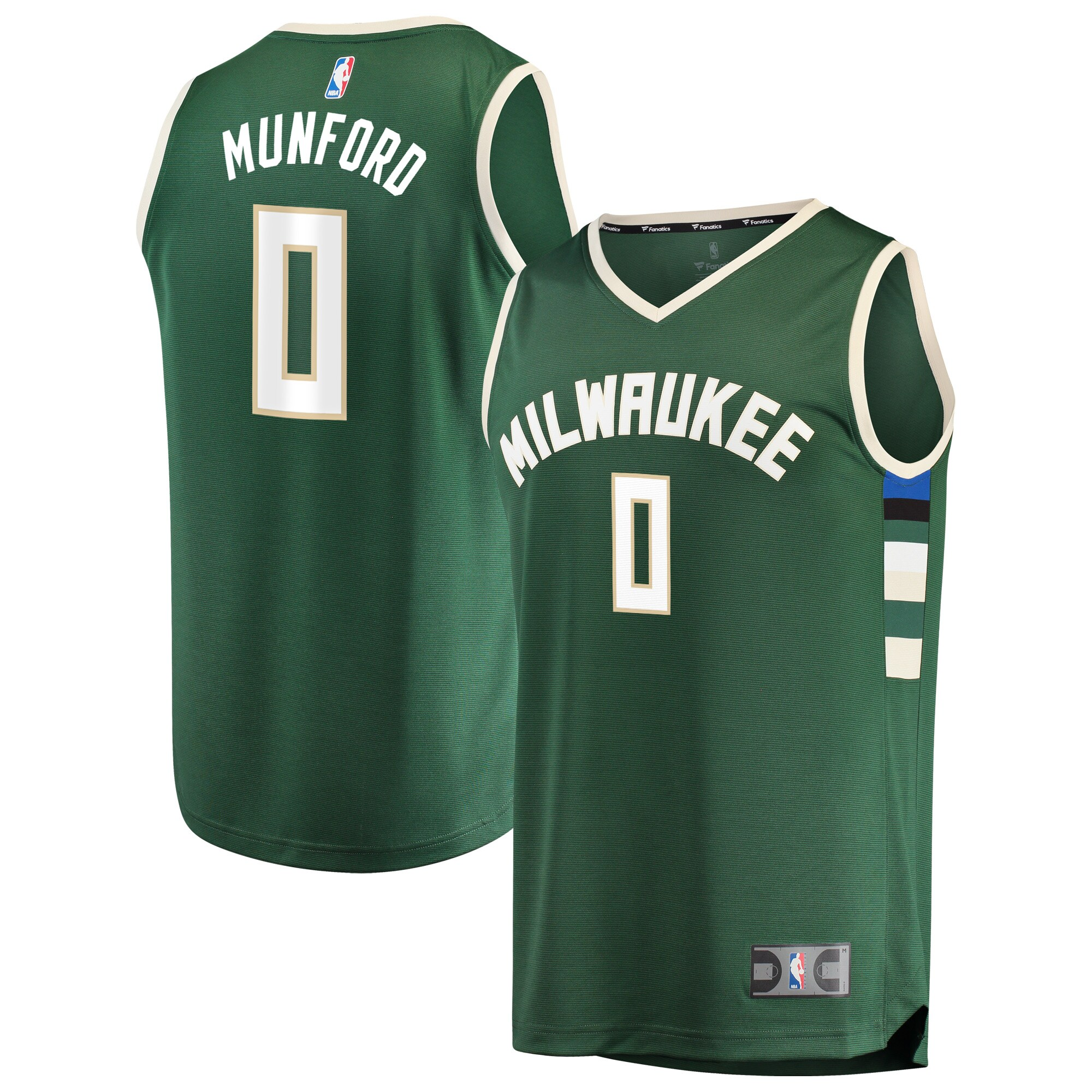 Xavier Munford Milwaukee Bucks Fanatics Branded Fast Break Replica Jersey - Icon Edition - Hunter Green