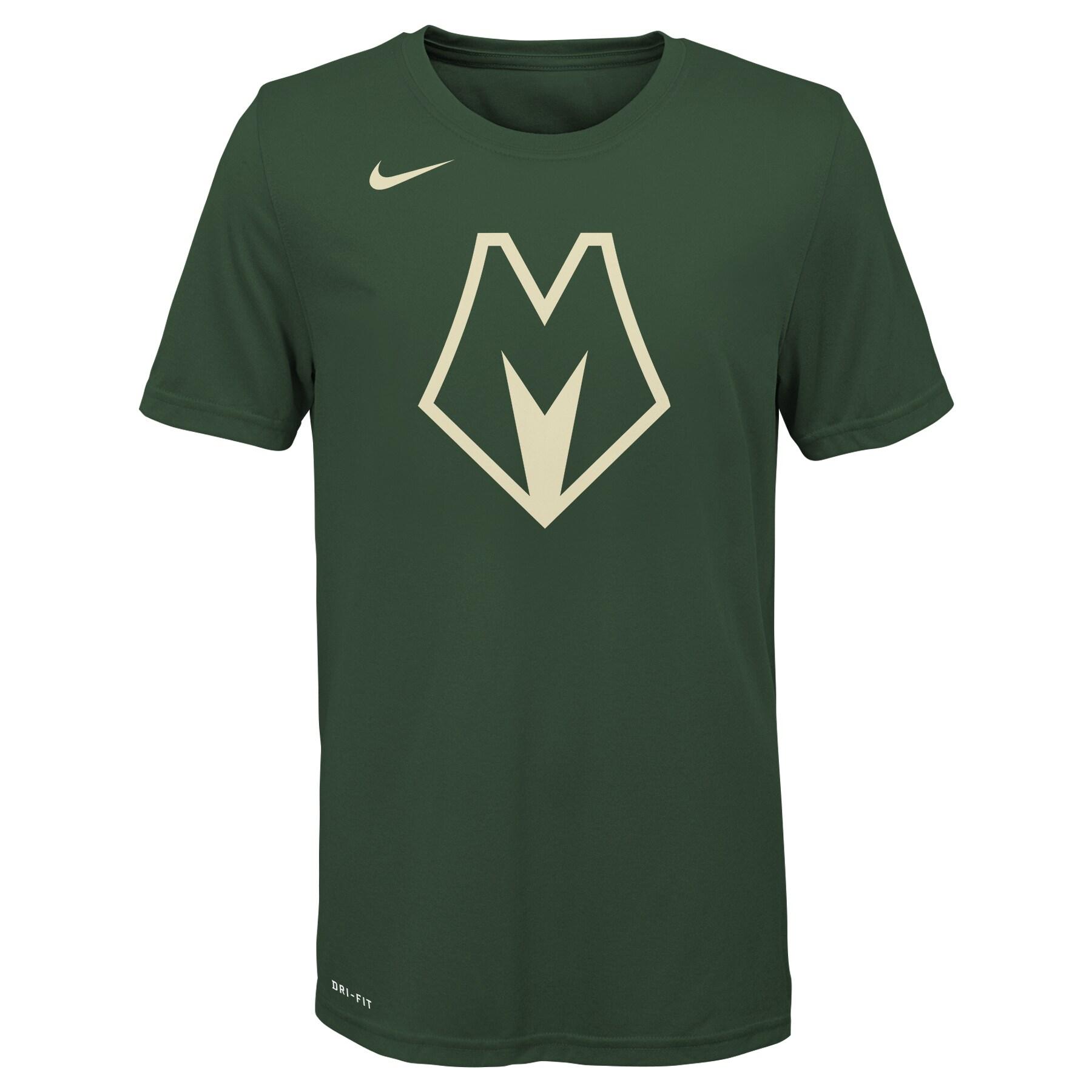 Milwaukee Bucks Nike Youth 2019/20 City Edition Logo T-Shirt - Green