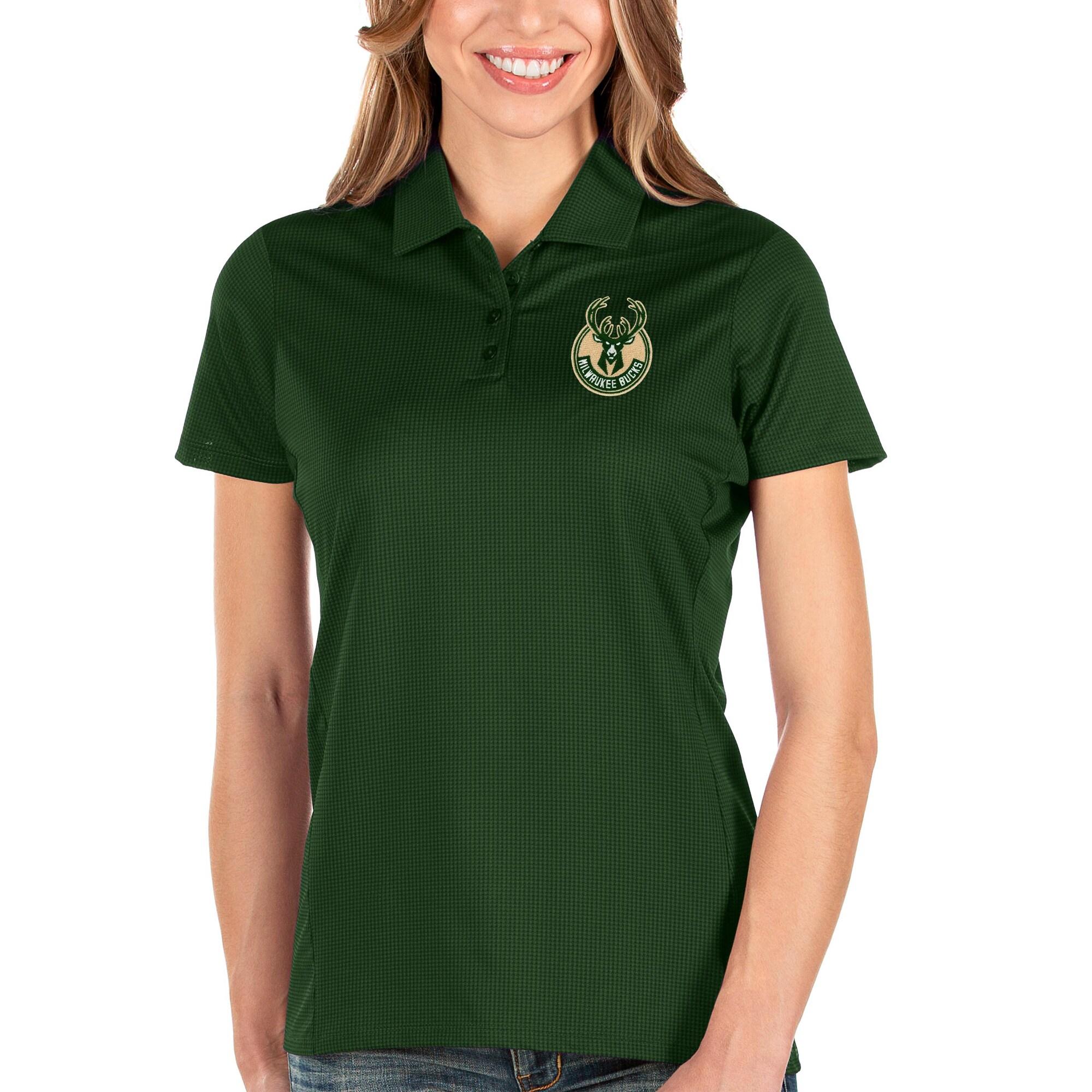Milwaukee Bucks Antigua Women's Balance Polo - Green