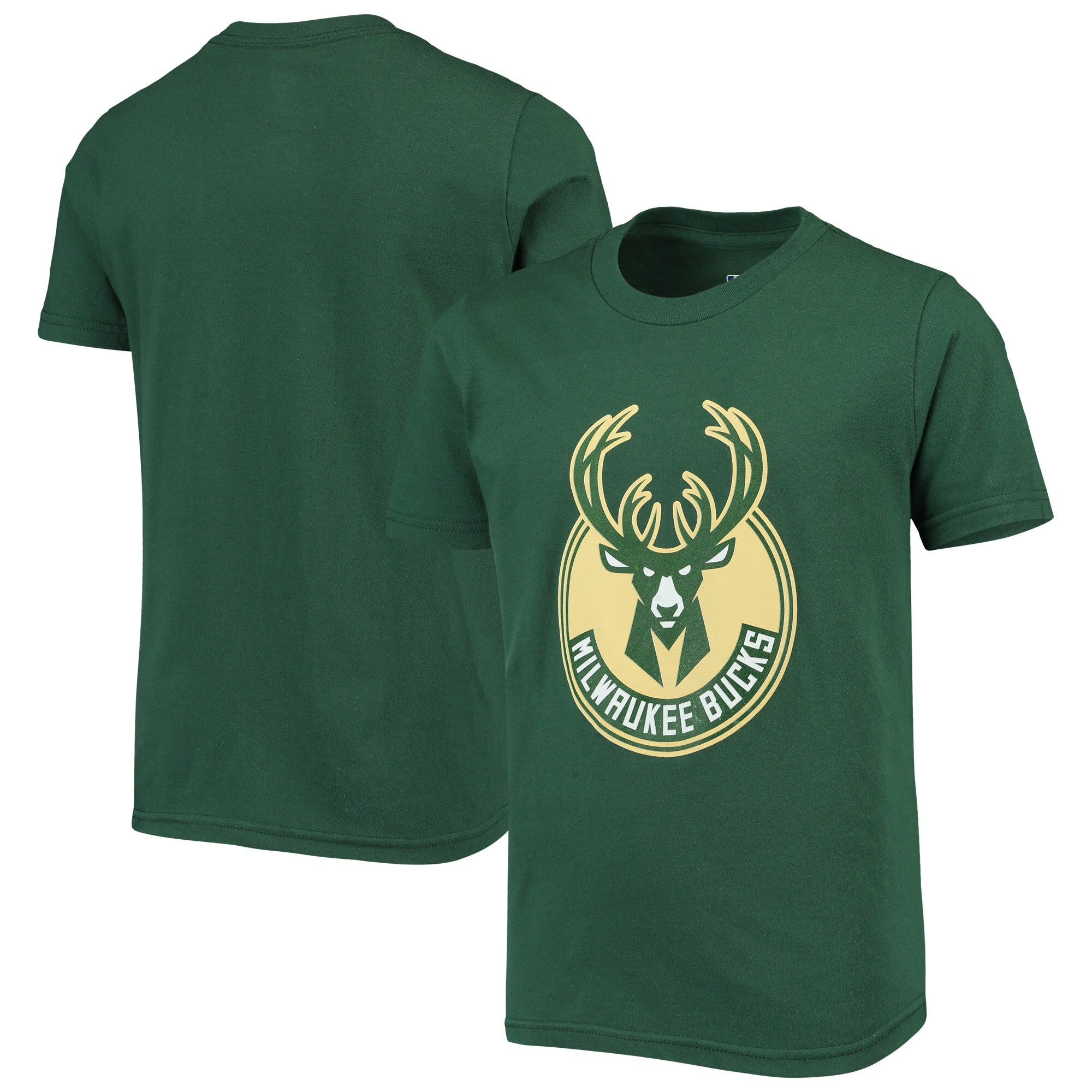 Milwaukee Bucks Youth Primary Logo T-Shirt - Hunter Green