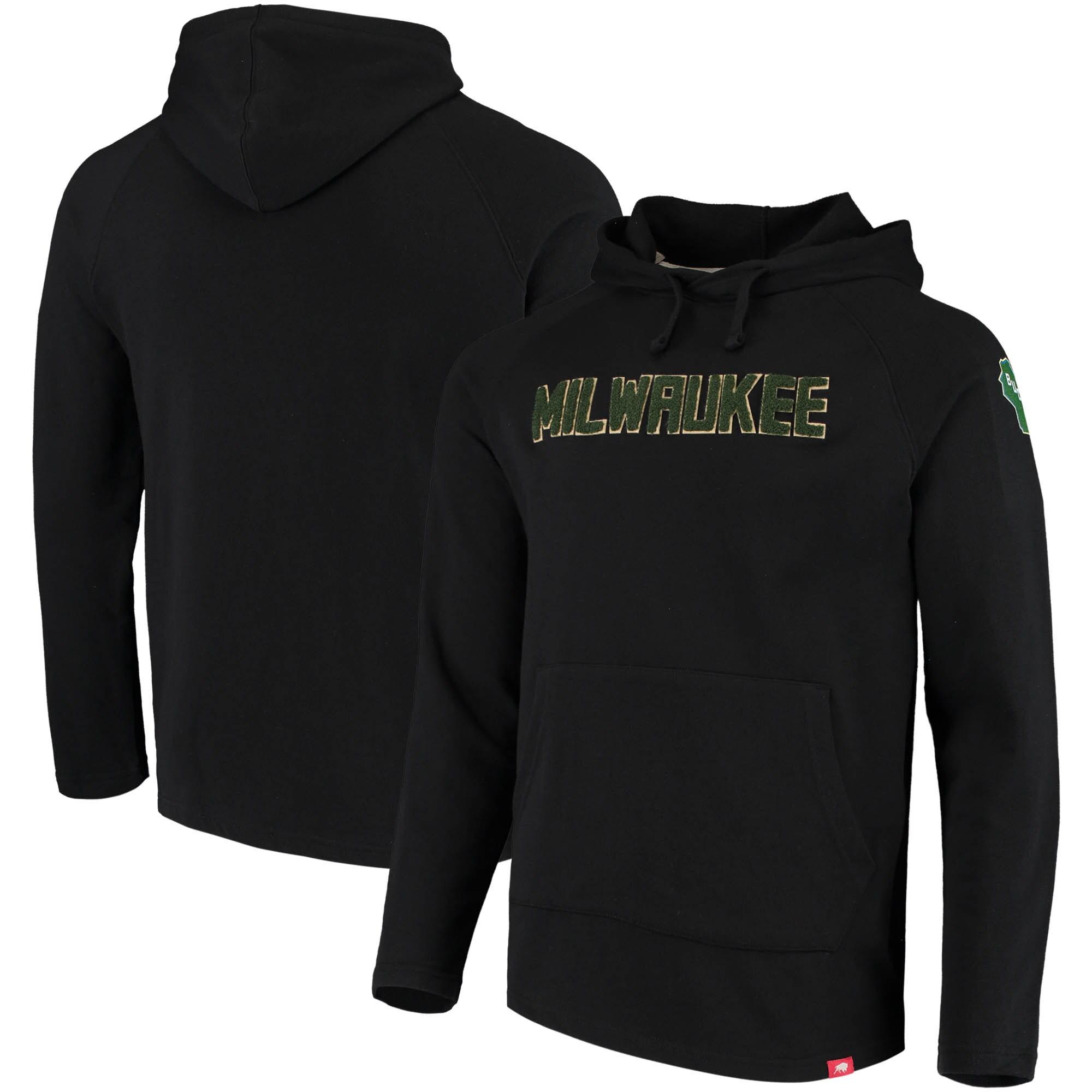 Milwaukee Bucks Sportiqe Chenille Logo Pullover Hoodie - Black