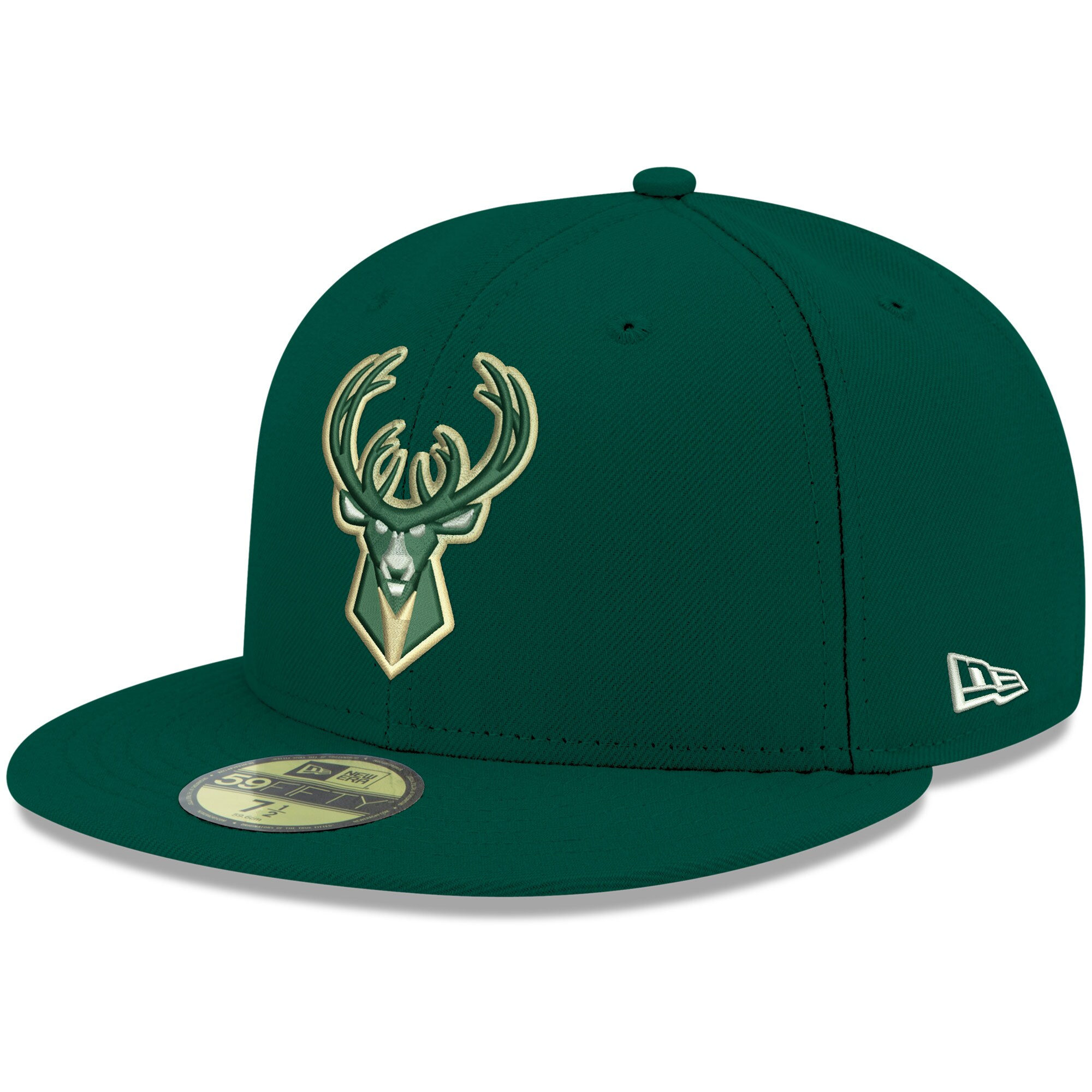 Milwaukee Bucks New Era Official Team Color 59FIFTY Fitted Hat - Green
