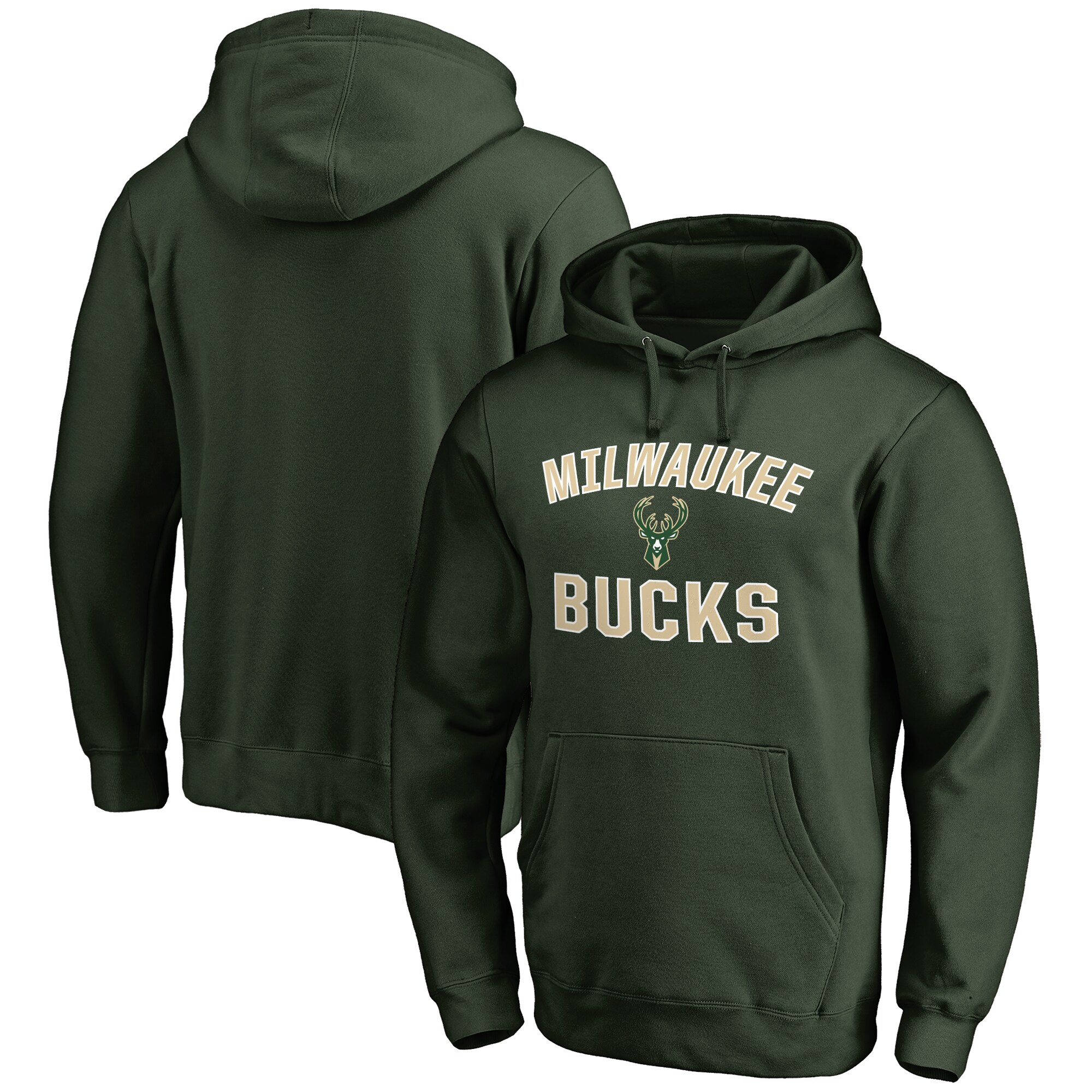 Milwaukee Bucks Big & Tall Victory Arch Pullover Hoodie - Green