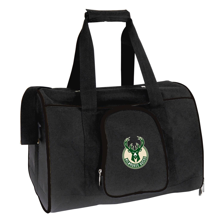 "Milwaukee Bucks Small 16"" Pet Carrier - Black"