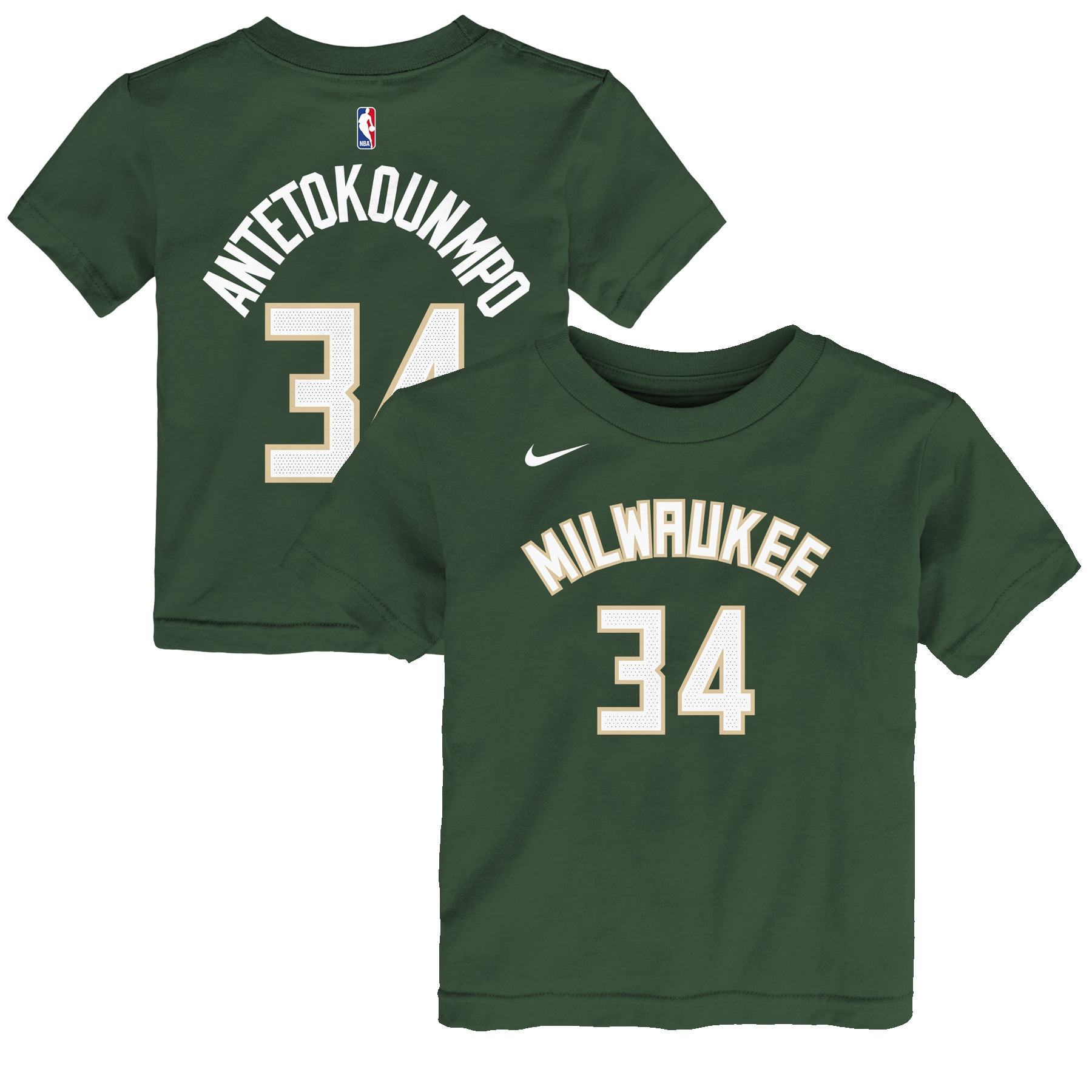 Giannis Antetokounmpo Milwaukee Bucks Nike Preschool Name & Number T-Shirt - Green