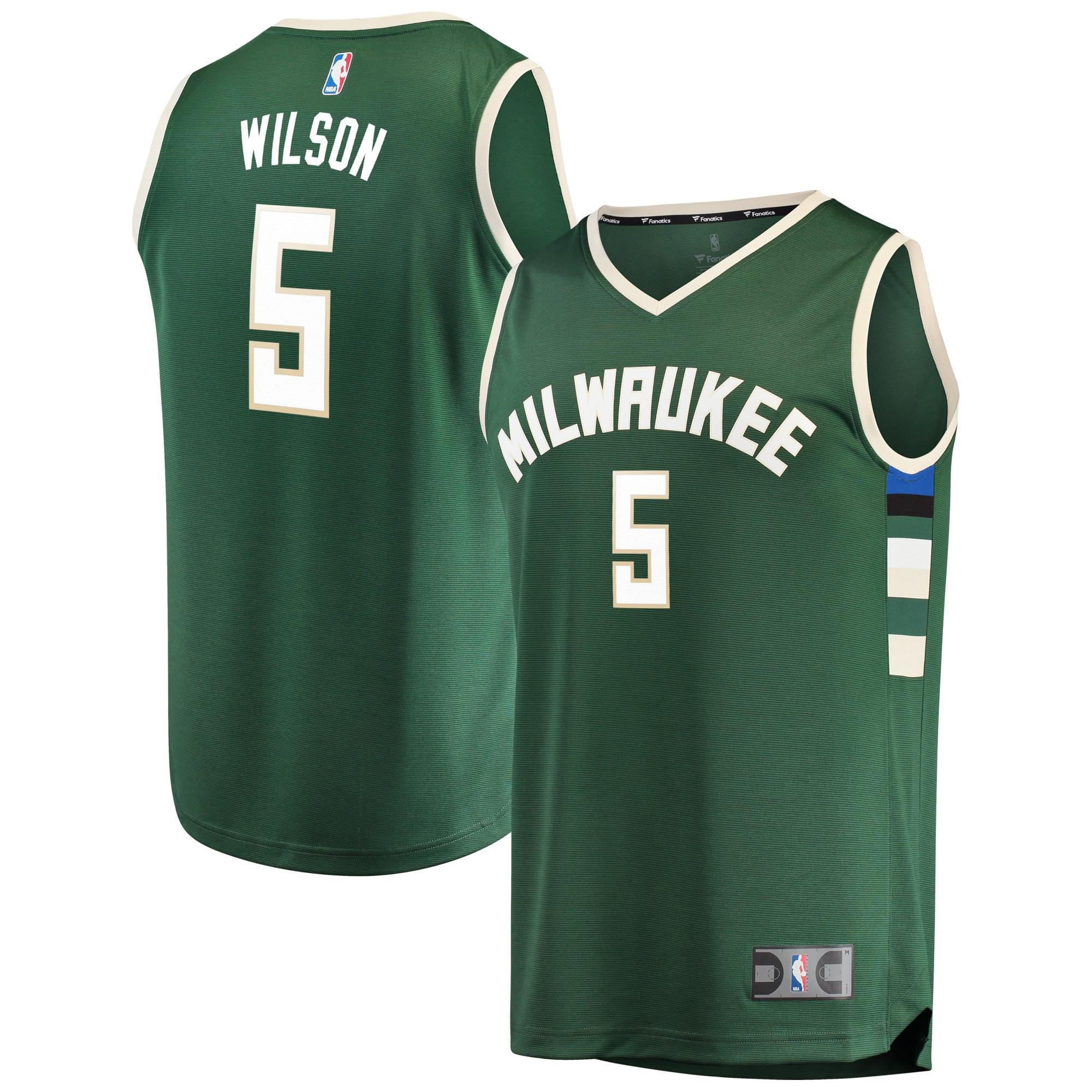 D.J. Wilson Milwaukee Bucks Fanatics Branded Fast Break Road Replica Player Jersey Green - Icon Edition