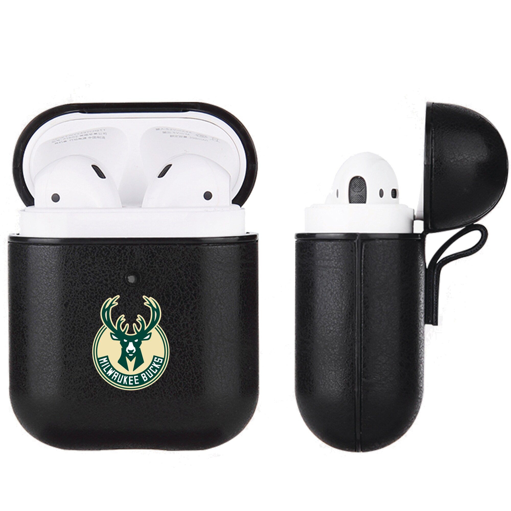 Milwaukee Bucks Air Pods Black Leatherette Case