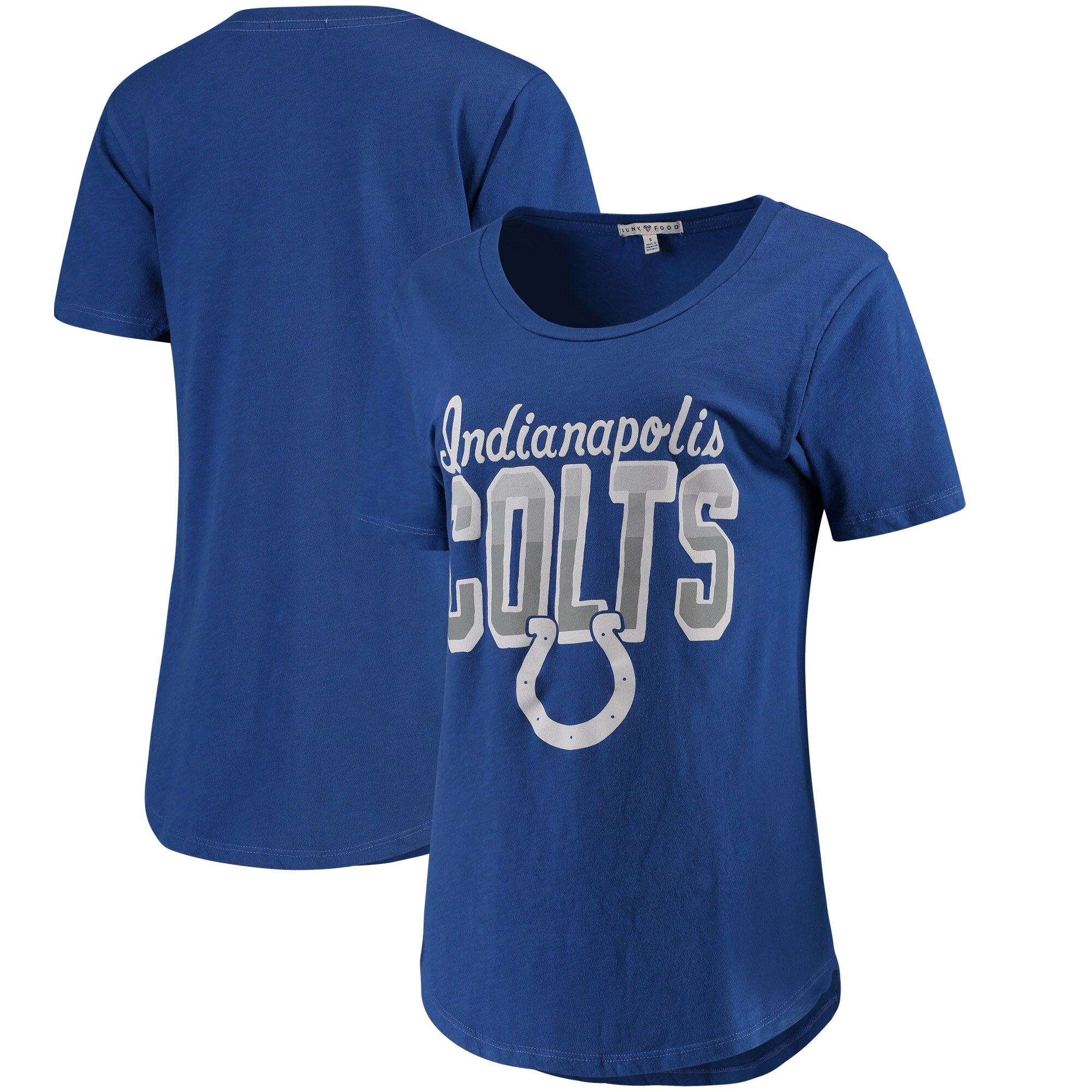 Indianapolis Colts Junk Food Women's Game Time T-Shirt - Royal