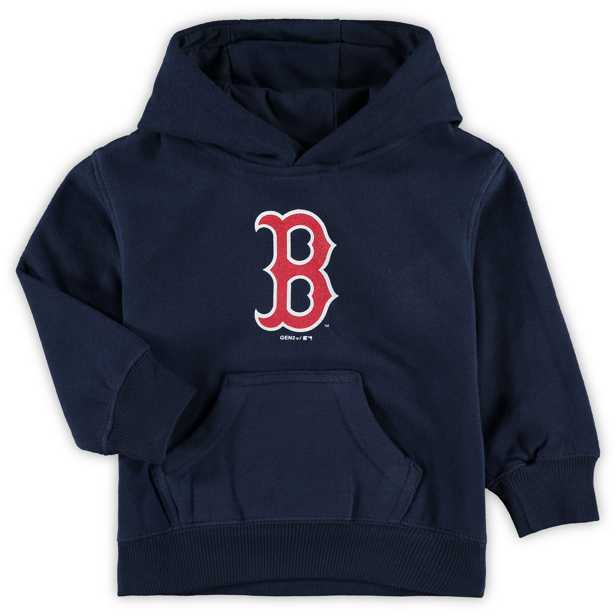 Boston Red Sox Toddler Primary Logo Team Pullover Hoodie - Navy