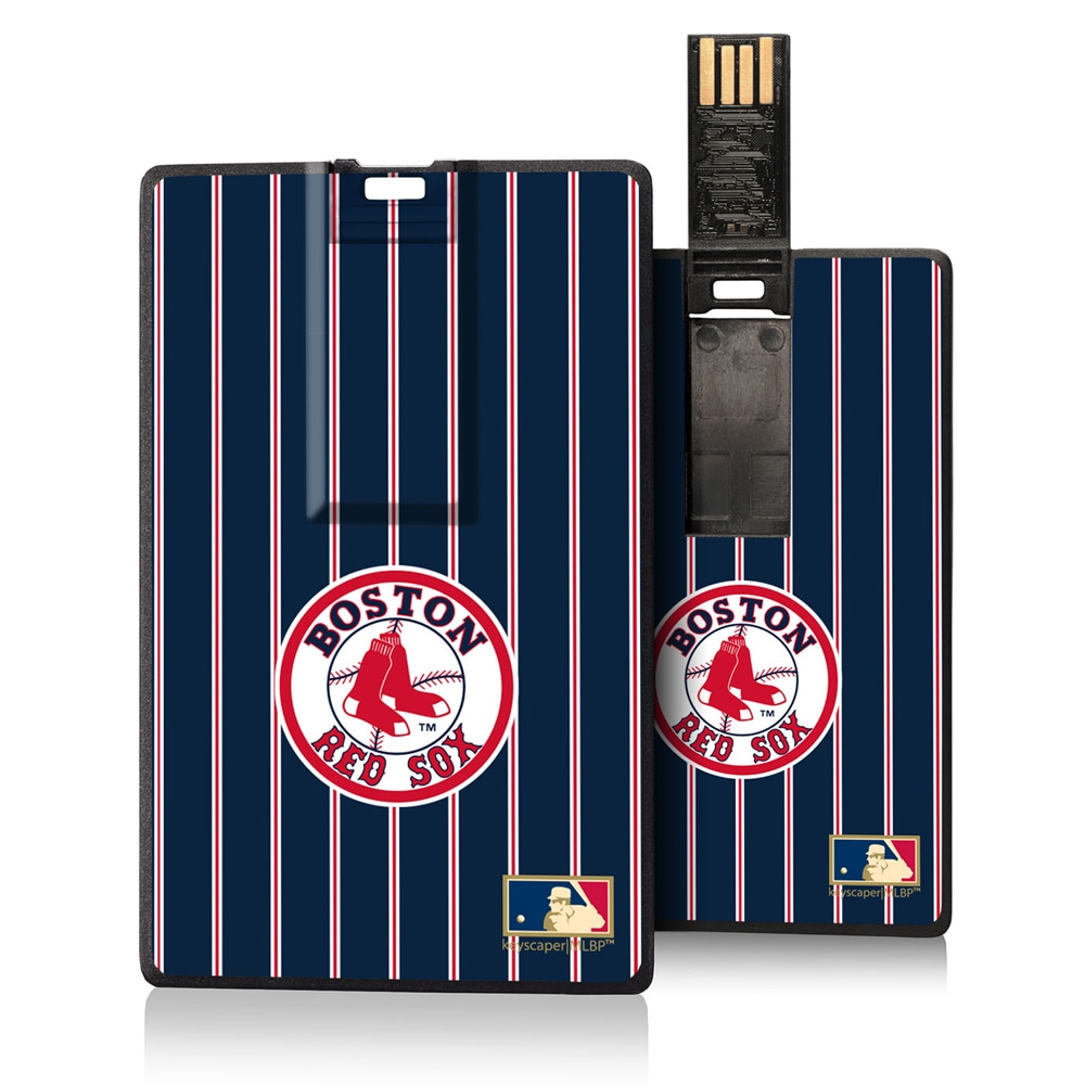 Boston Red Sox 1976-2008 Cooperstown Pinstripe Credit Card USB Drive