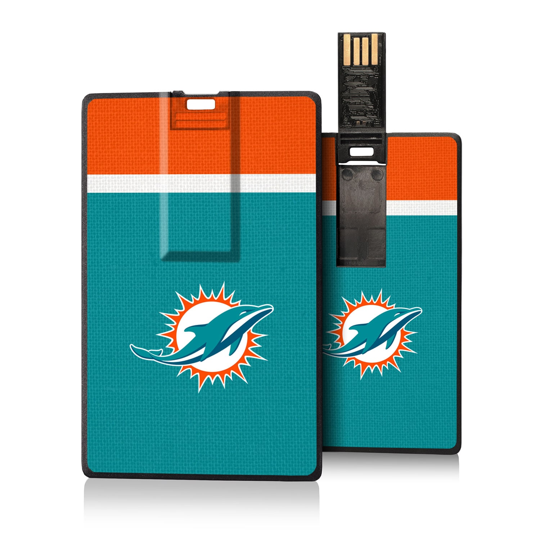 Miami Dolphins Striped Credit Card USB Drive