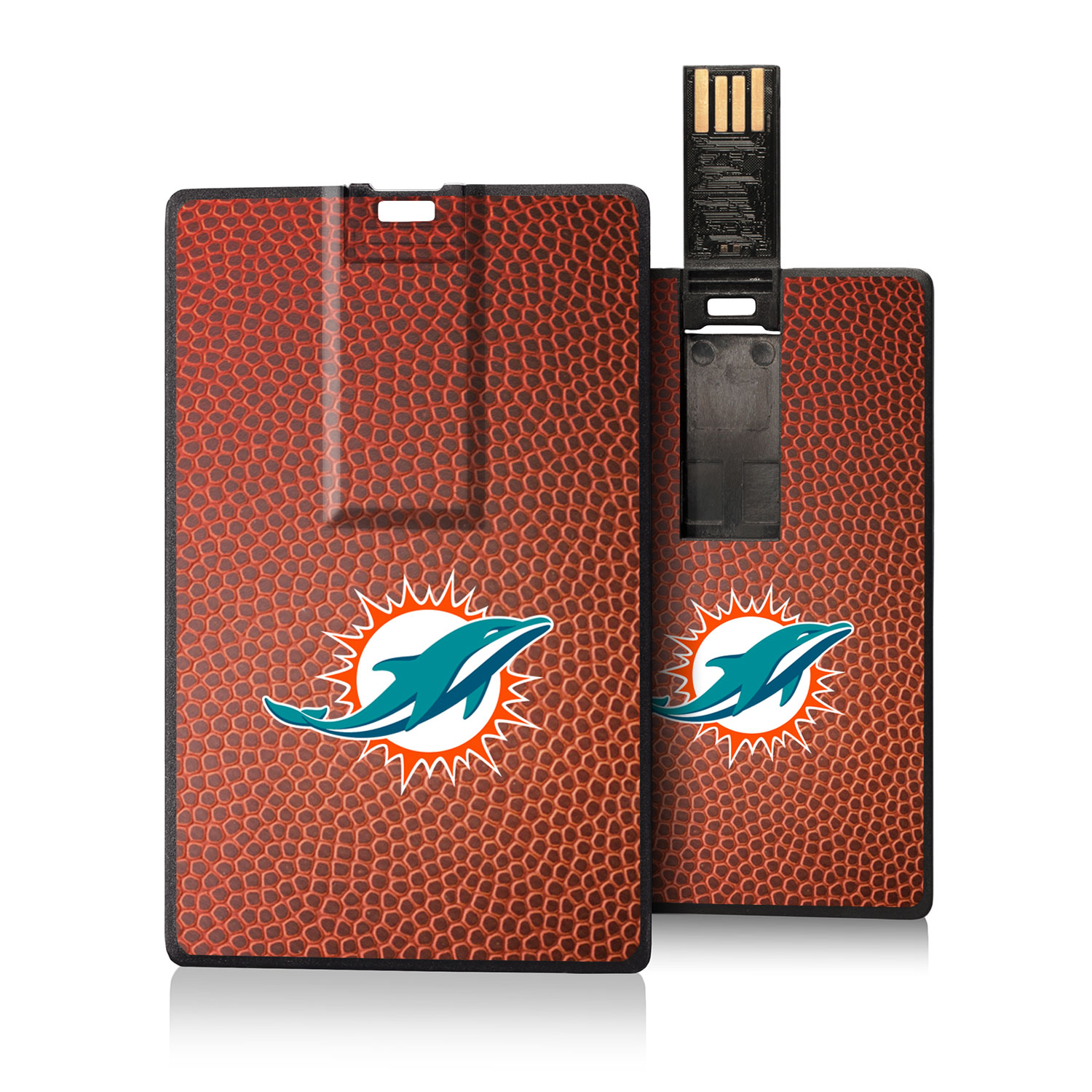 Miami Dolphins Football Design Credit Card USB Drive