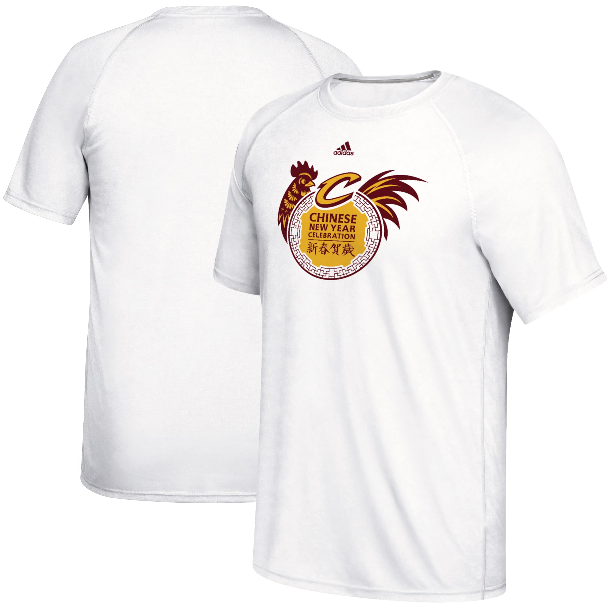 Cleveland Cavaliers adidas 2017 Chinese New Year climalite Ultimate T-Shirt - White