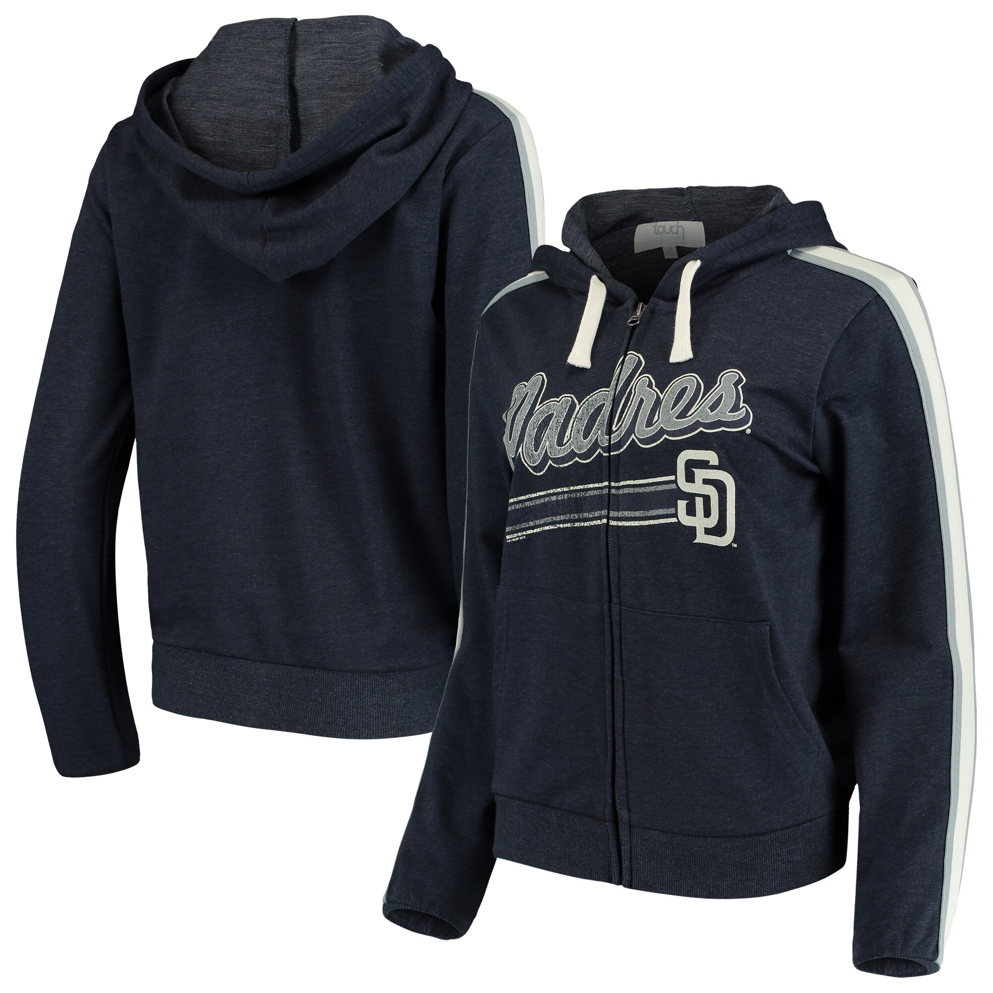 San Diego Padres Touch by Alyssa Milano Women's Conference Full-Zip Hoodie - Navy