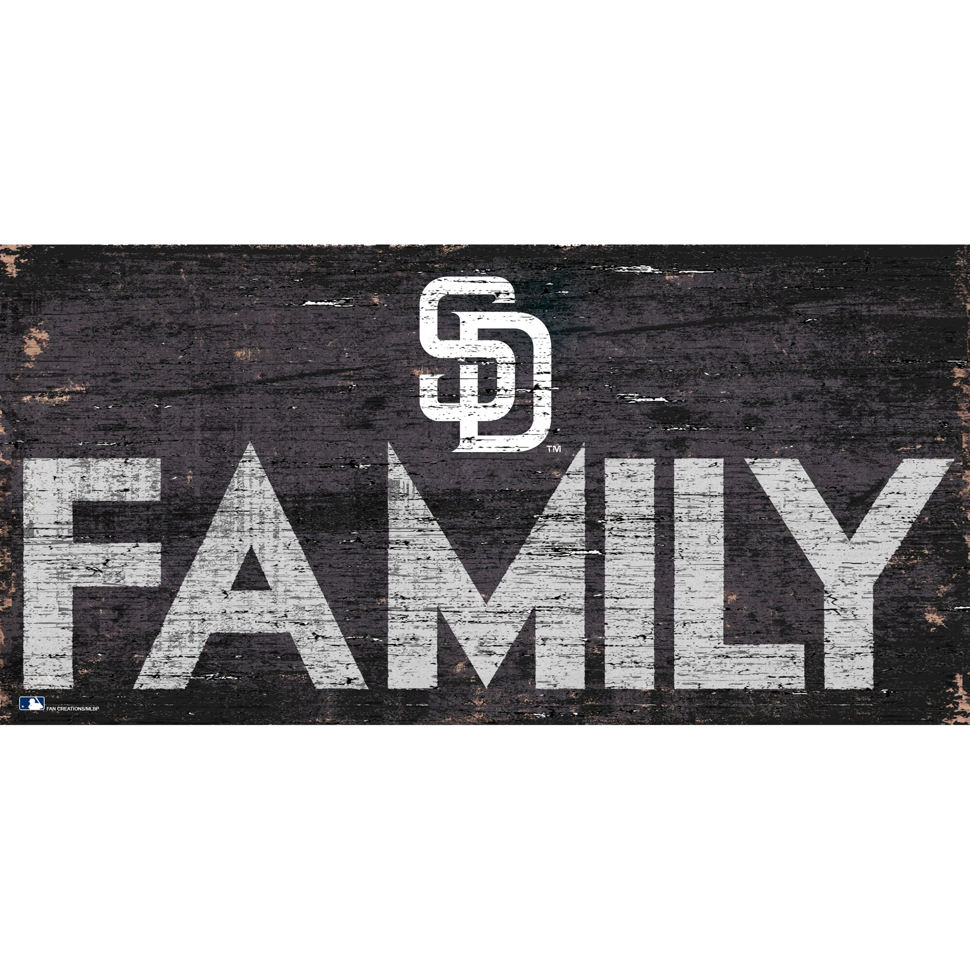 San Diego Padres 12'' x 6'' Family Sign