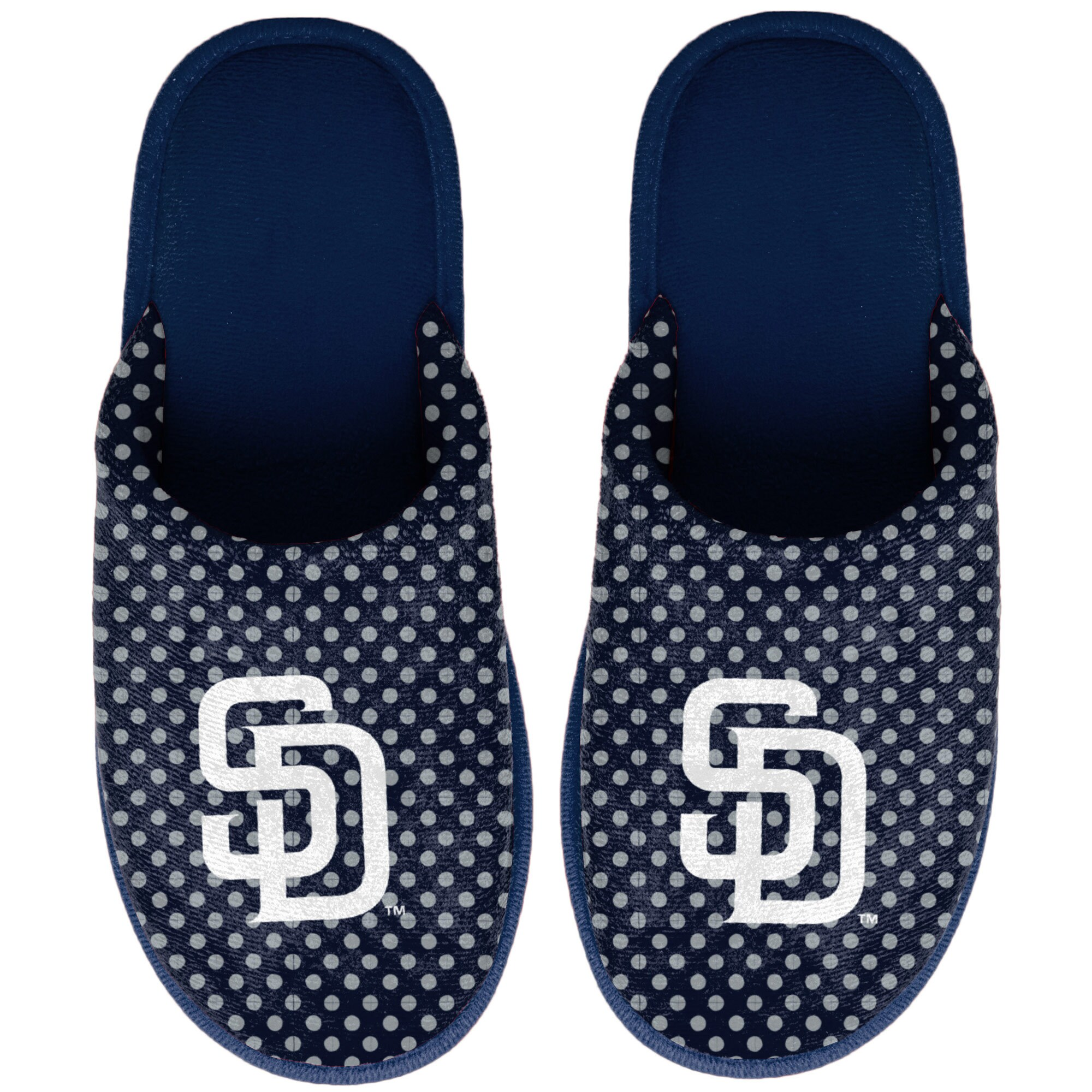 San Diego Padres Women's Big Logo Scuff Slippers