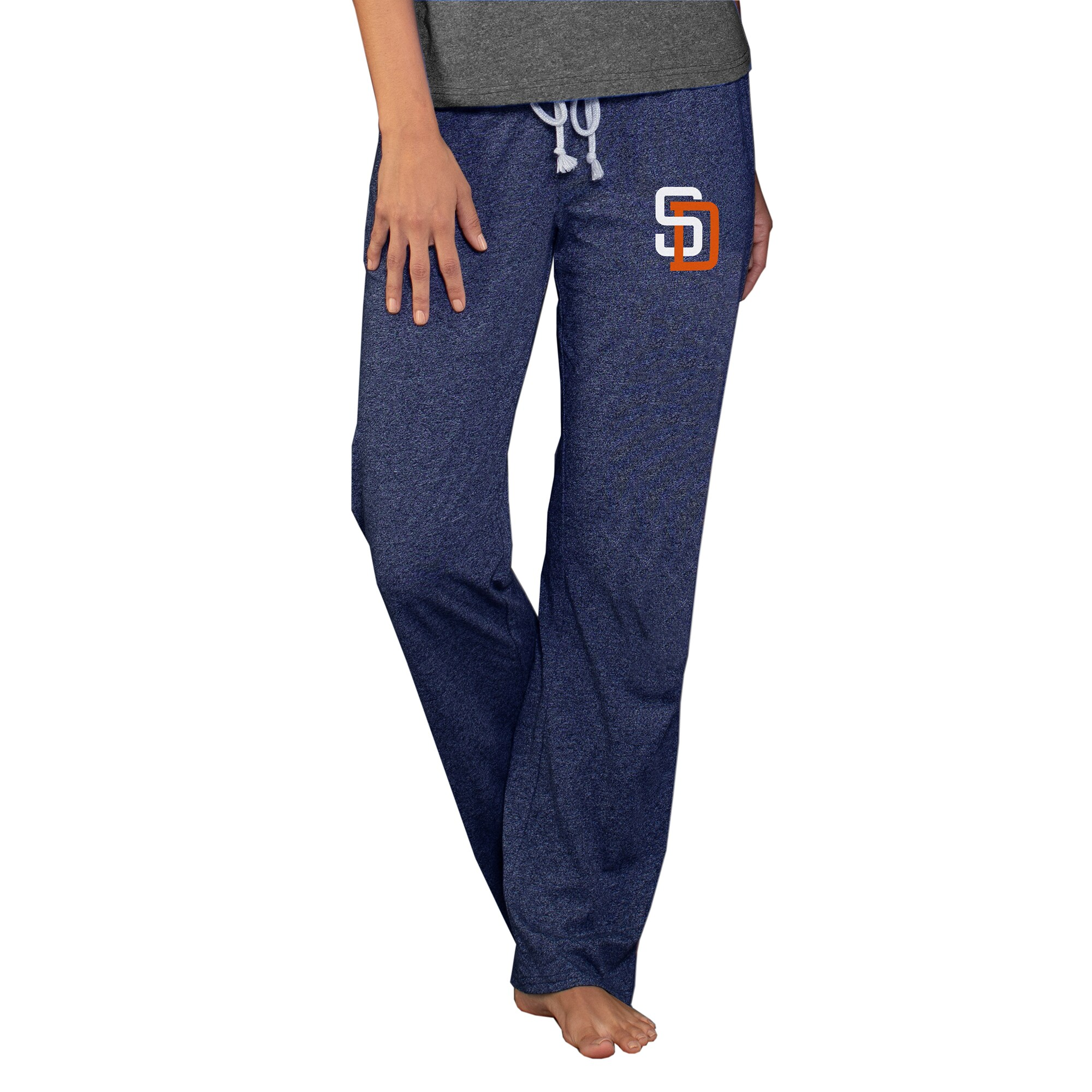 San Diego Padres Concepts Sport Women's Cooperstown Quest Knit Pants - Navy