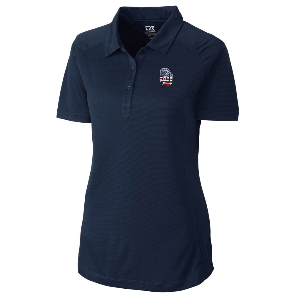 San Diego Padres Cutter & Buck Women's Northgate Polo - Navy
