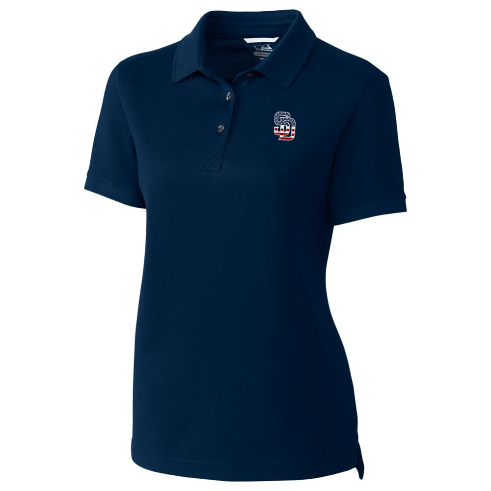San Diego Padres Cutter & Buck Women's Advantage Polo - Navy