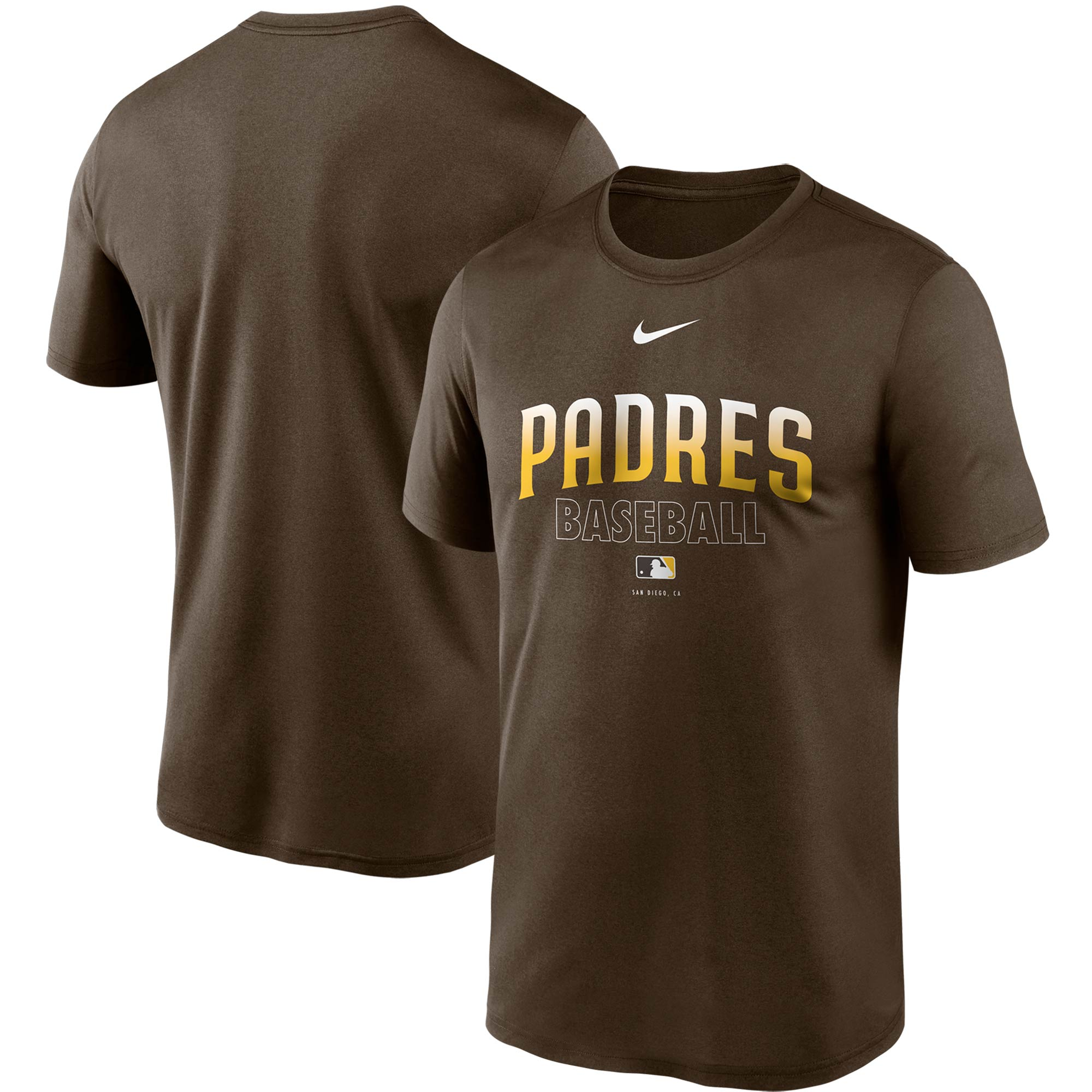 San Diego Padres Nike Authentic Collection Legend Performance T-Shirt - Brown