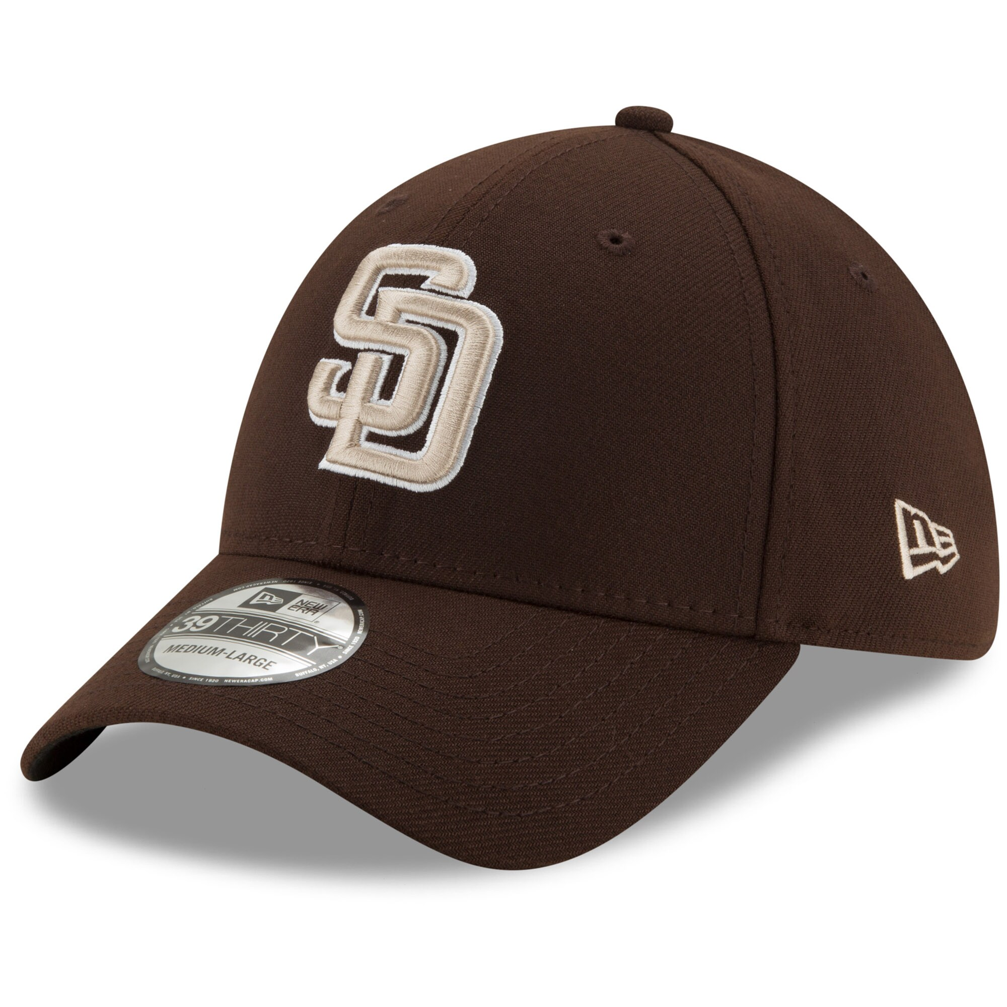 San Diego Padres New Era Alternate Team Classic 39THIRTY Flex Hat - Brown