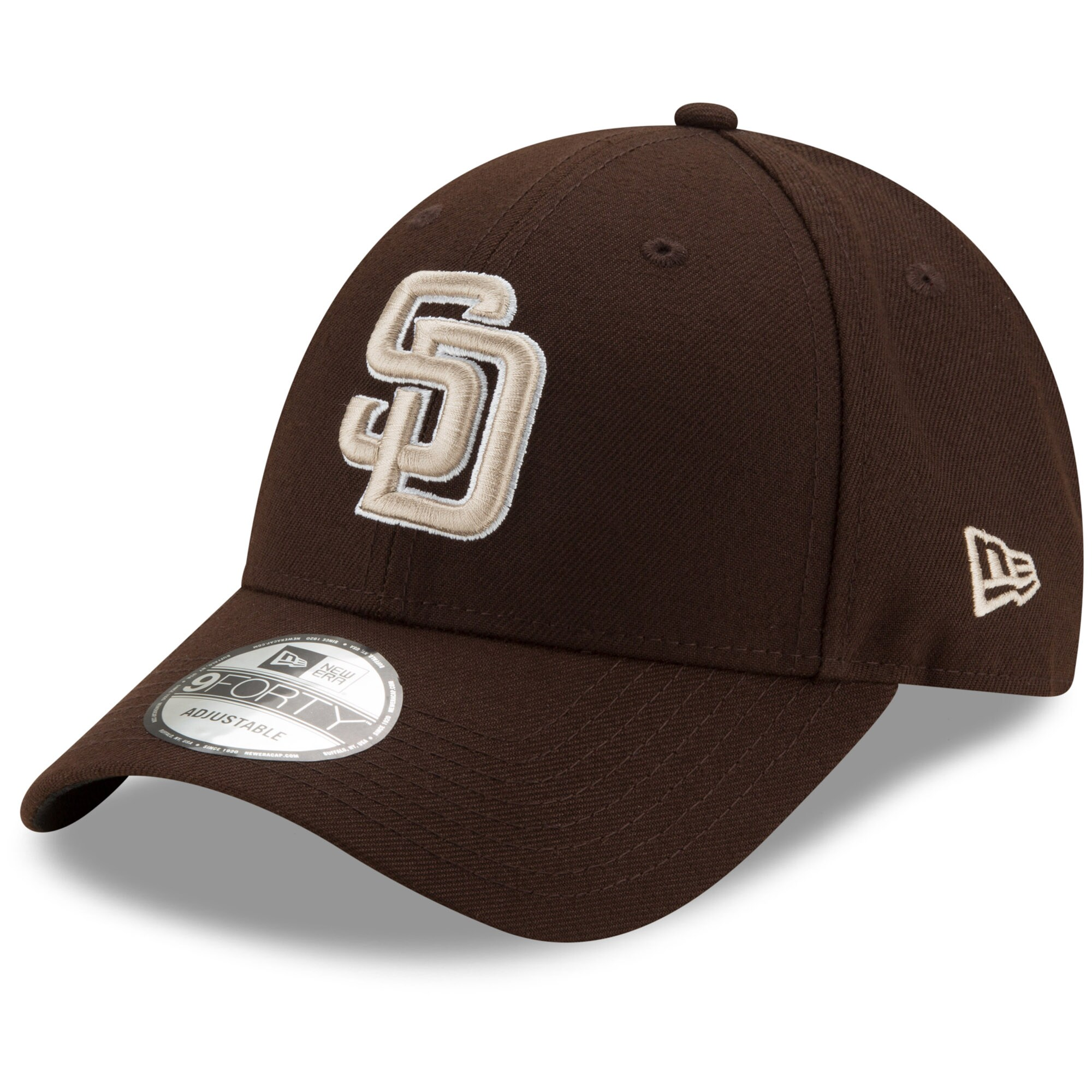 San Diego Padres New Era Alternate The League 9FORTY Adjustable Hat - Brown