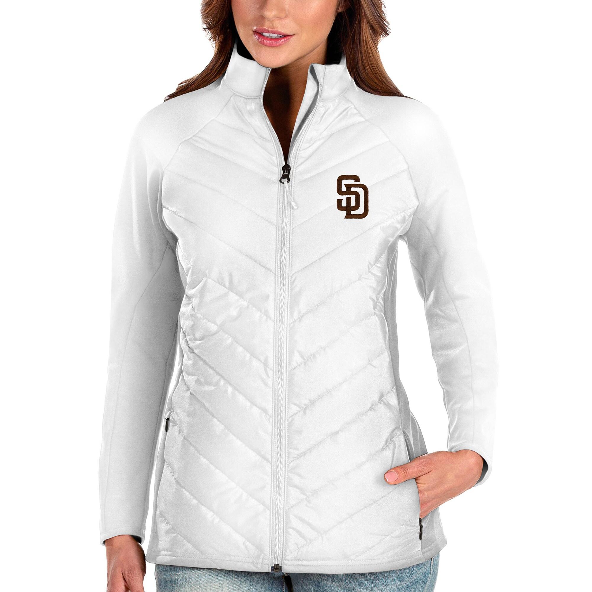 San Diego Padres Antigua Women's Altitude Full-Zip Jacket - White