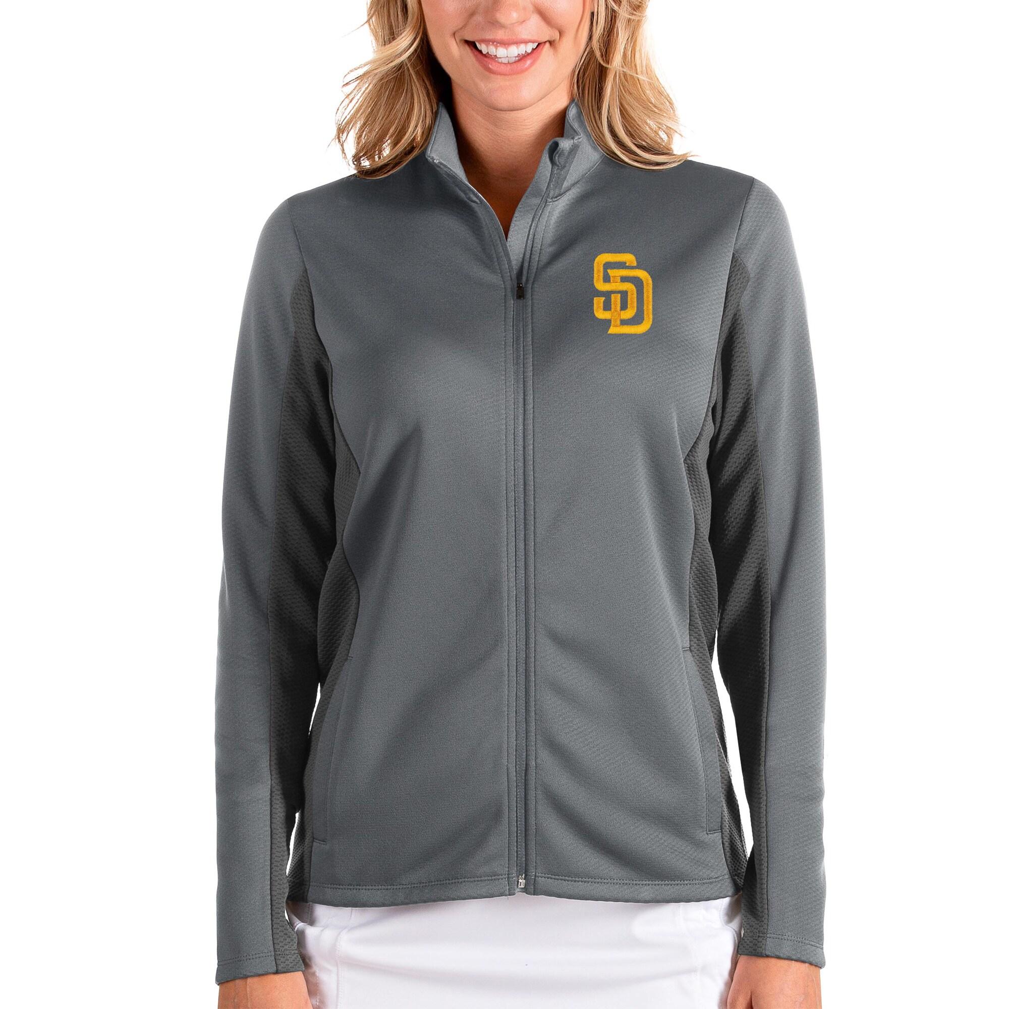San Diego Padres Antigua Women's Passage Full-Zip Jacket - Steel/Charcoal