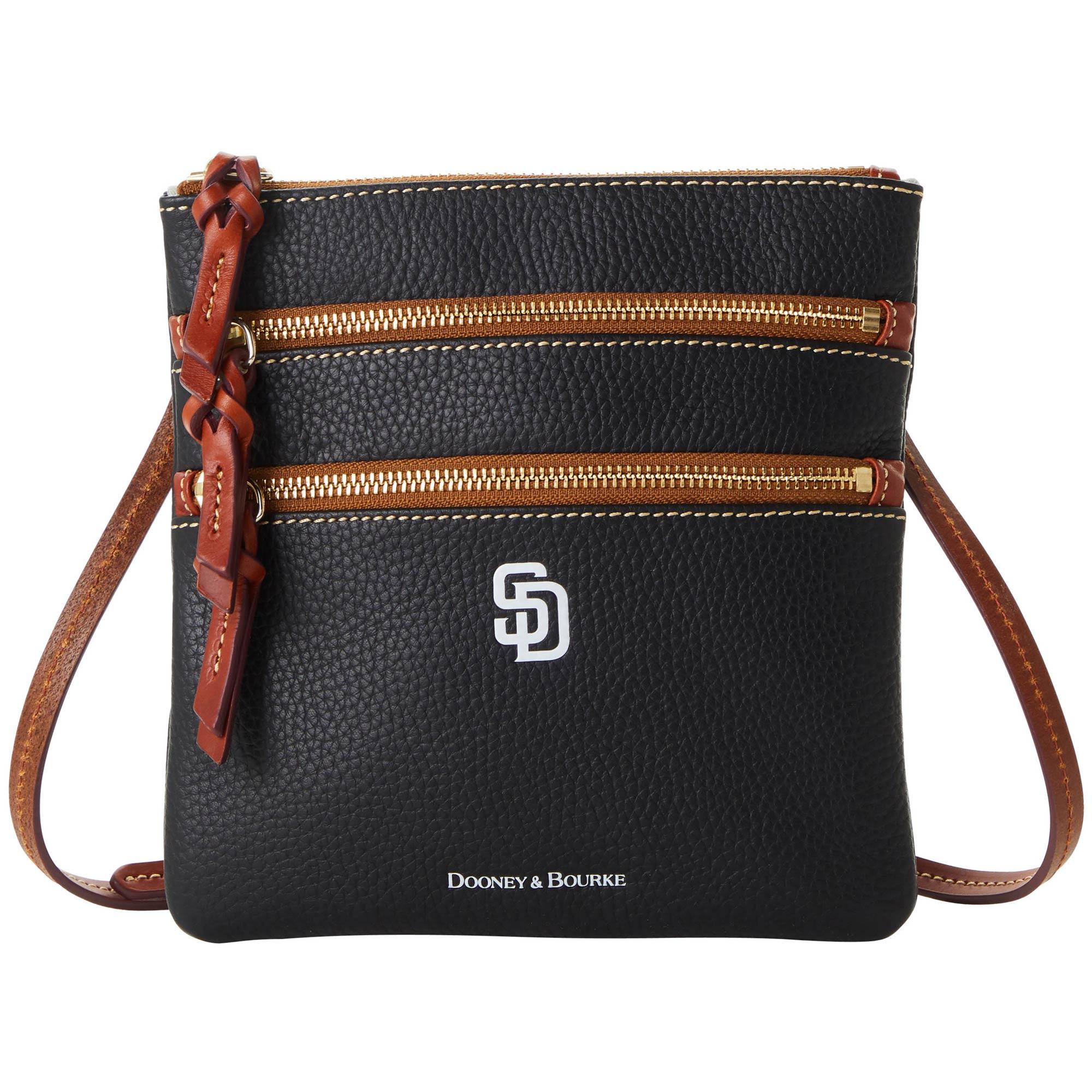 San Diego Padres Dooney & Bourke Women's Pebble Triple-Zip Core Crossbody Purse