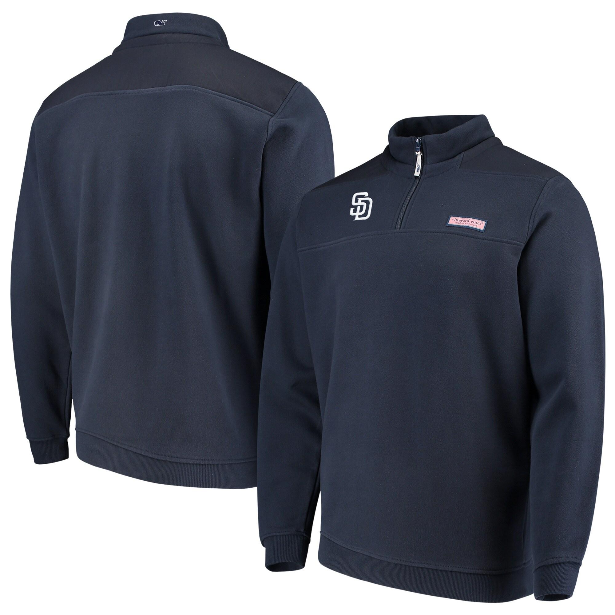 San Diego Padres Vineyard Vines Shep Shirt Quarter-Zip Pullover Jacket - Navy
