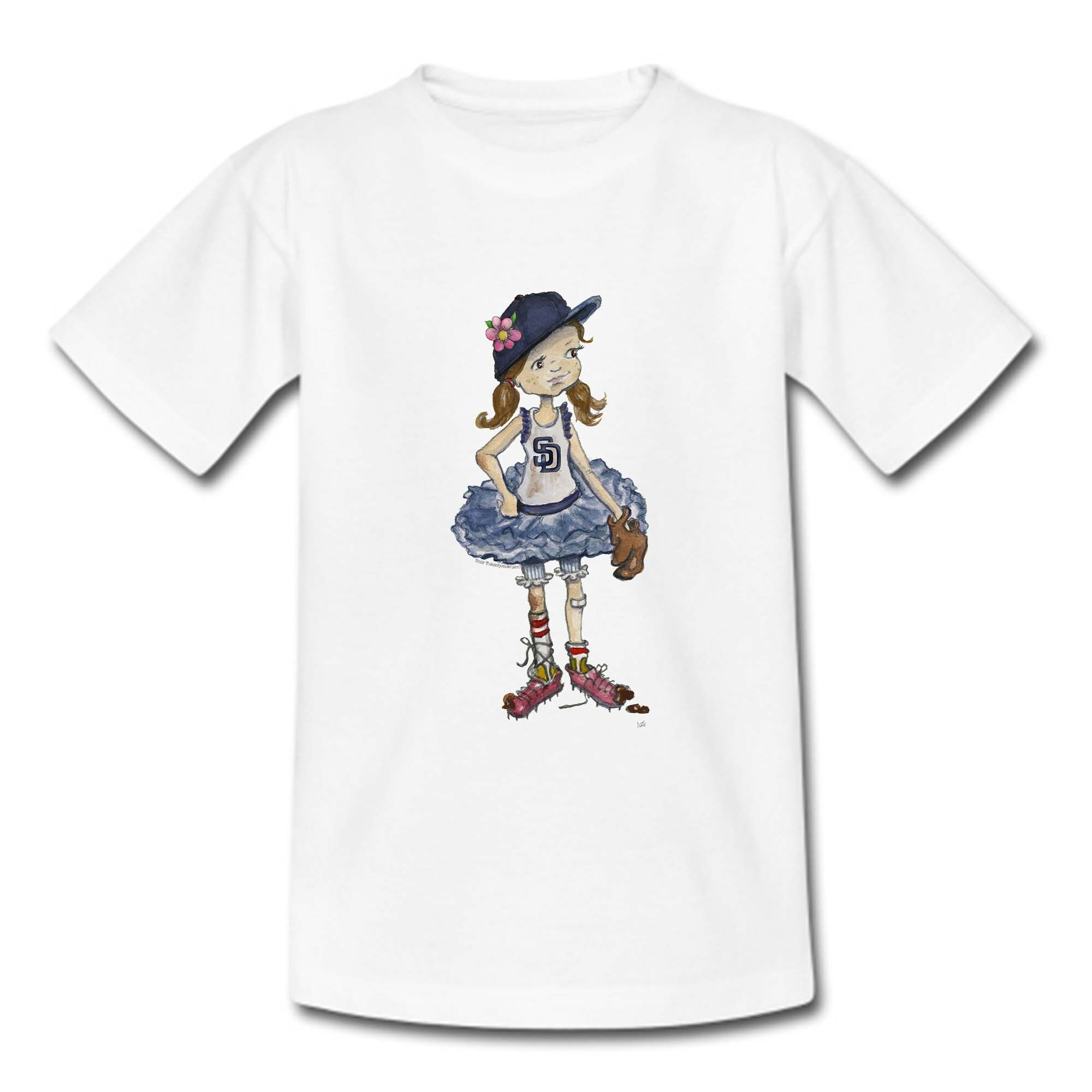 San Diego Padres Tiny Turnip Girls Youth Babes T-Shirt - White