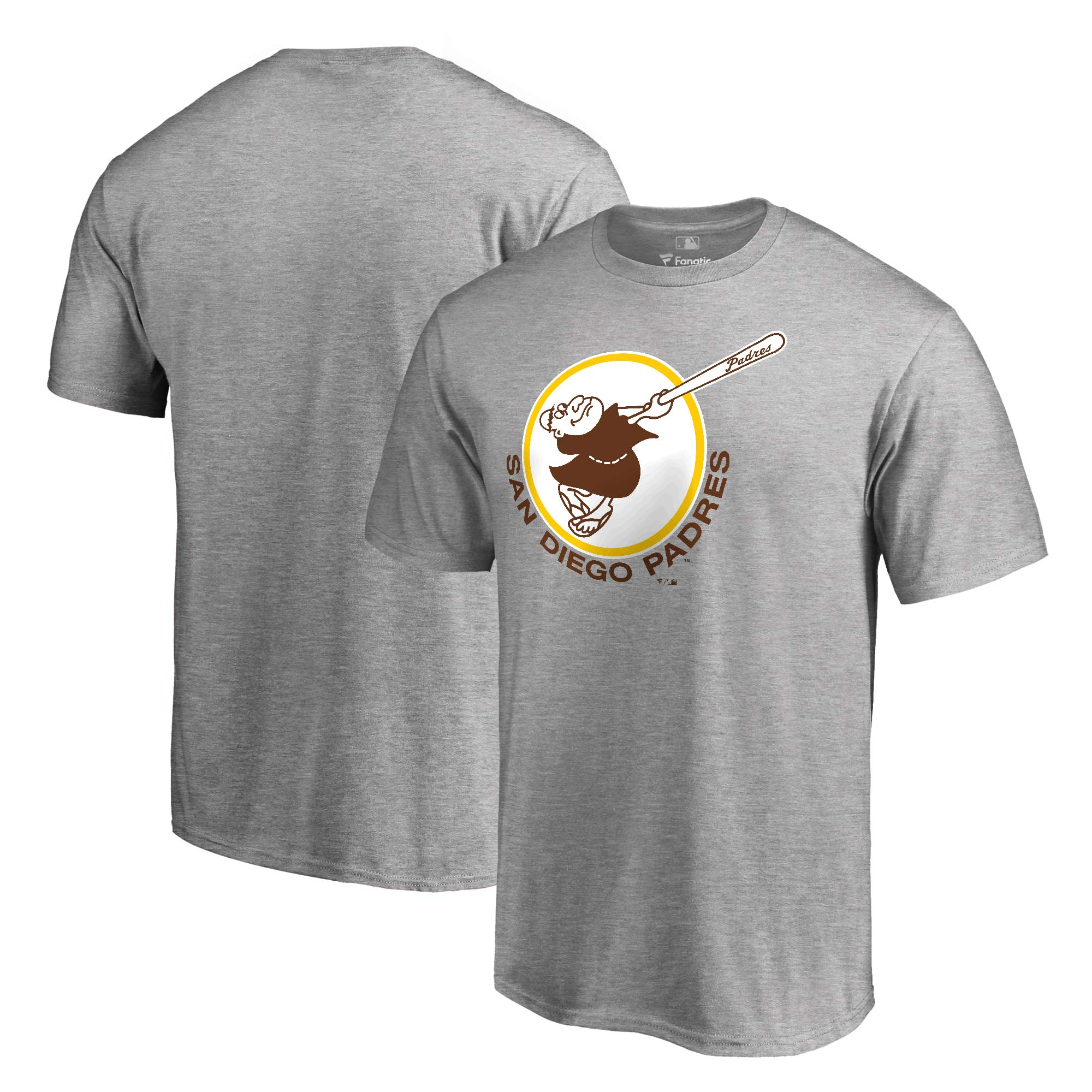 San Diego Padres Fanatics Branded Cooperstown Forbes T-Shirt - Heathered Gray