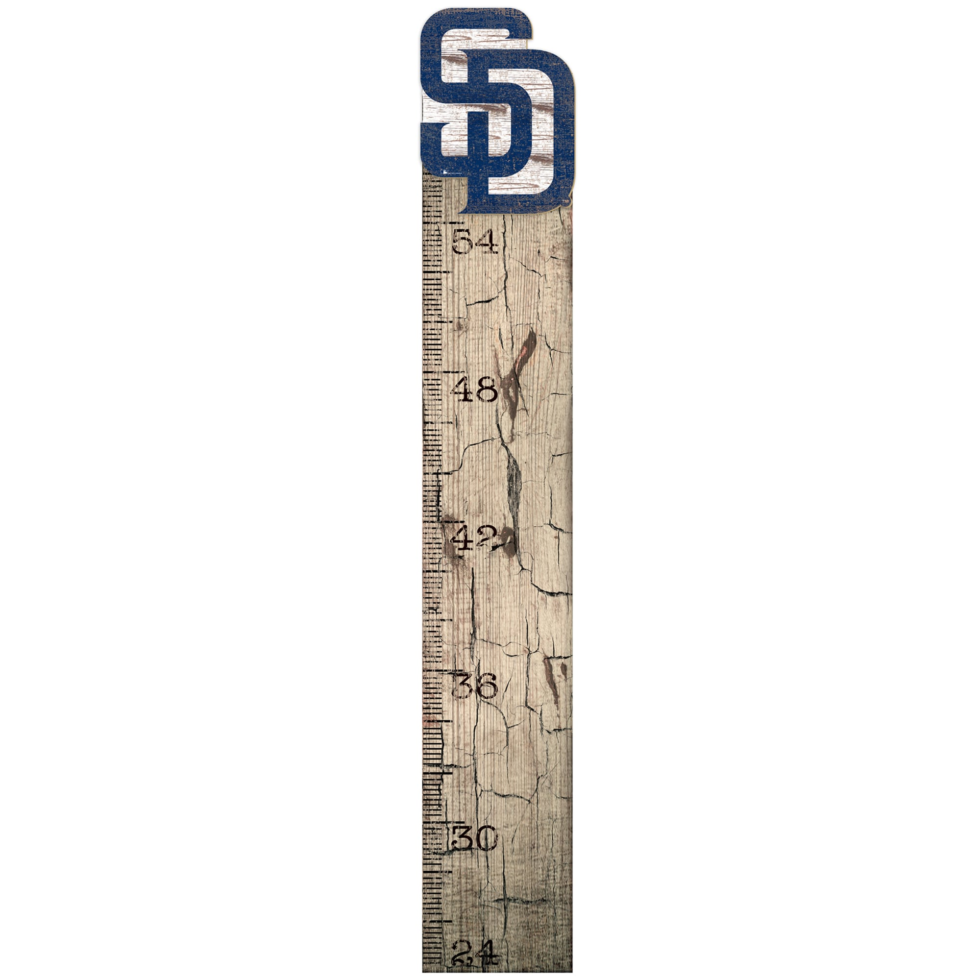 """San Diego Padres 6"""" x 36"""" Growth Chart Sign"""