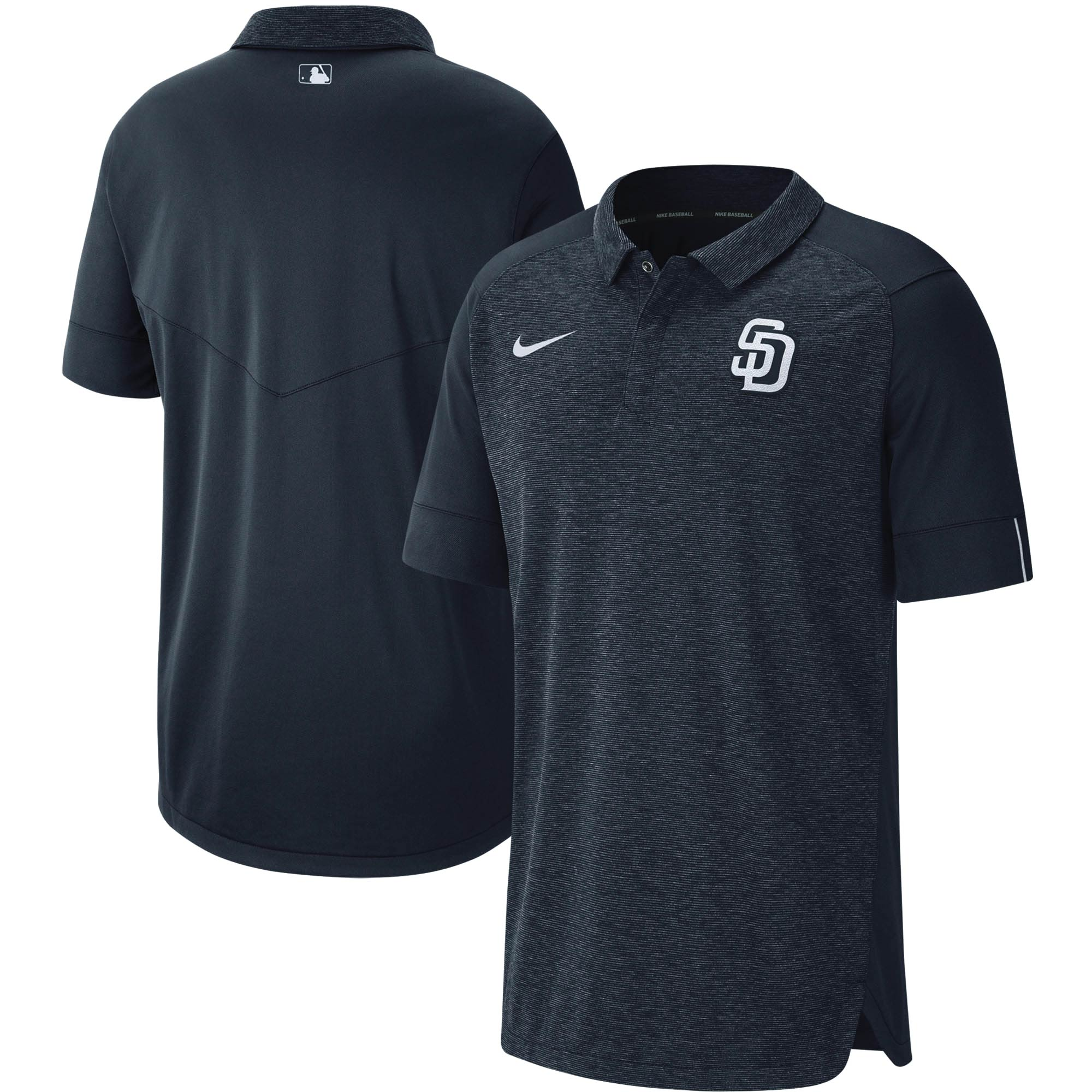 San Diego Padres Nike Authentic Collection Team Logo Elite Polo - Navy
