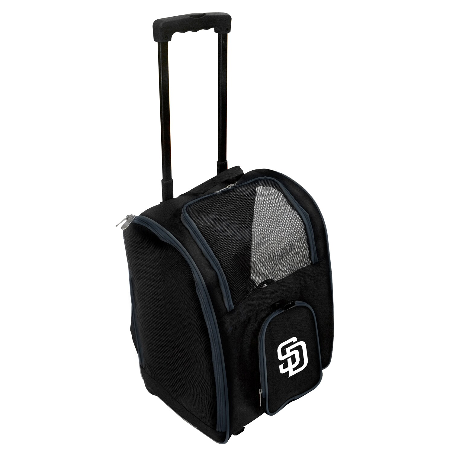 San Diego Padres 2-Wheeled Roller Pet Carrier - Black