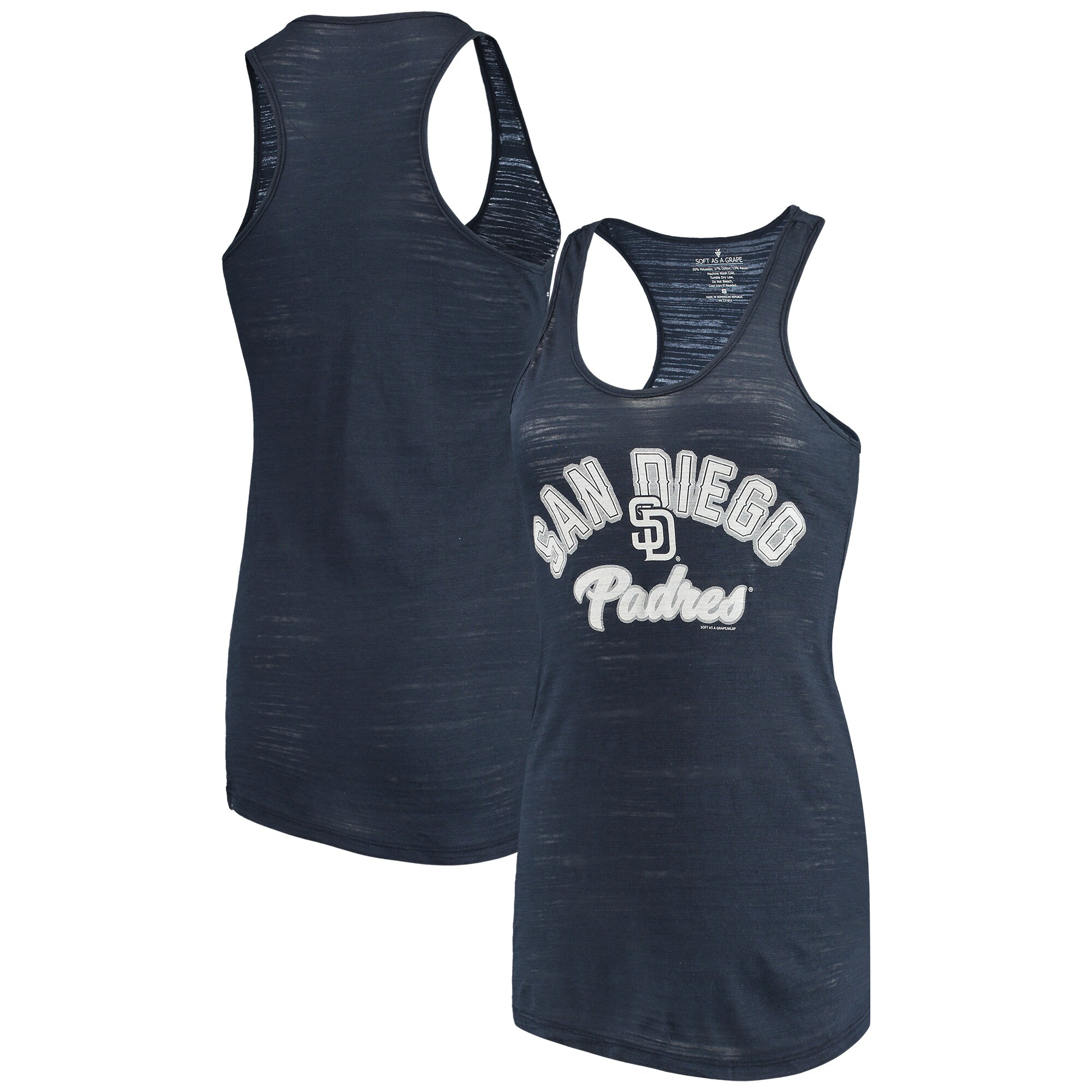 San Diego Padres Soft as a Grape Women's Multicount Racerback Tank Top - Navy
