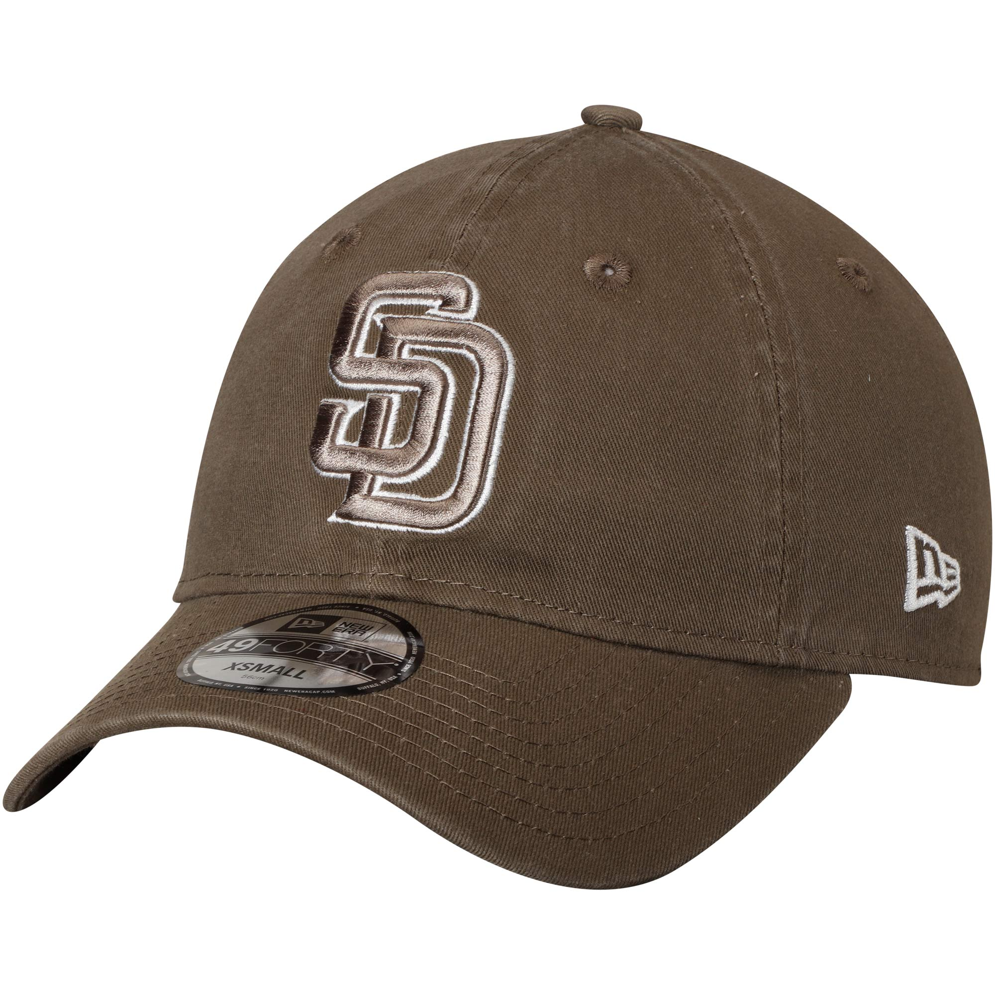 San Diego Padres New Era Core Fit Replica 49FORTY Fitted Hat - Brown